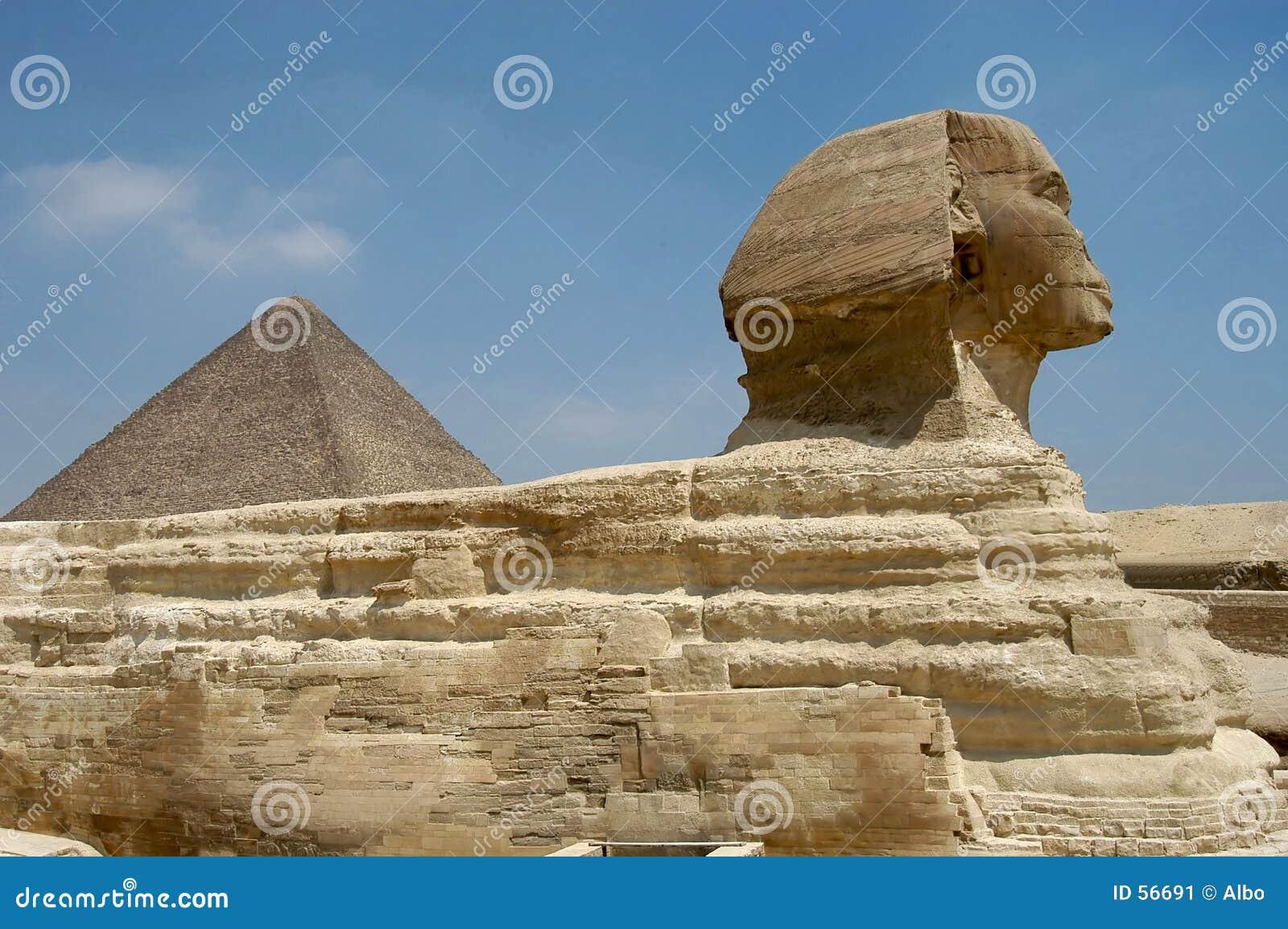 De piramide van Micerino en Sphynx