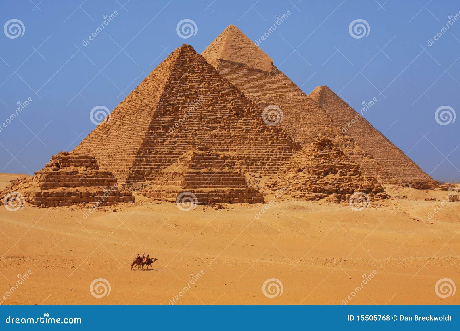 De piramides in Giza in Egypte