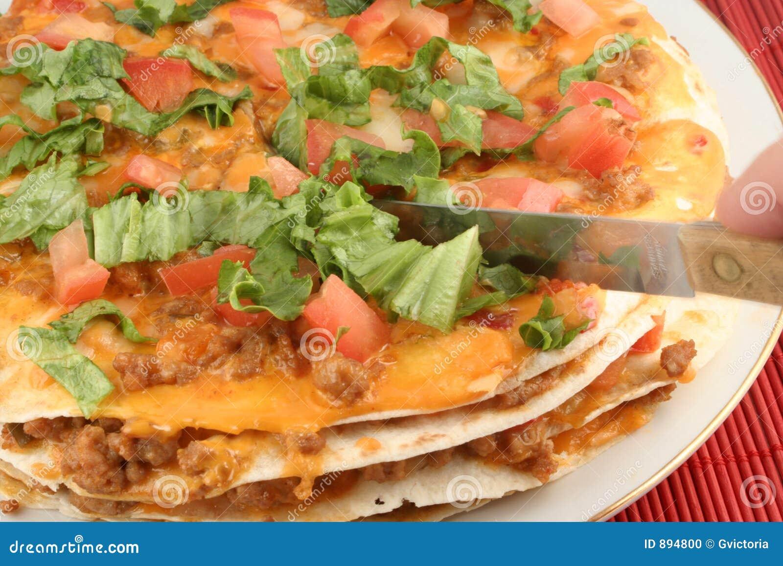 De pizza van de taco