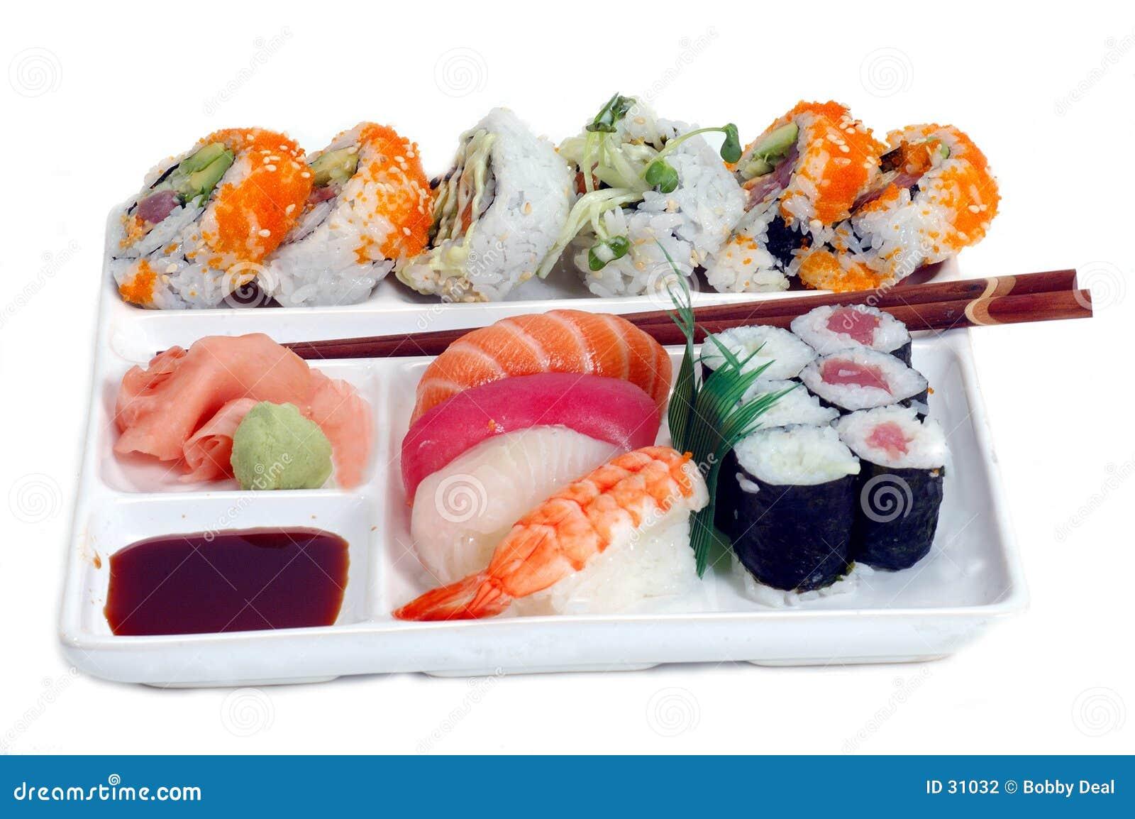 De Plaat van sushi