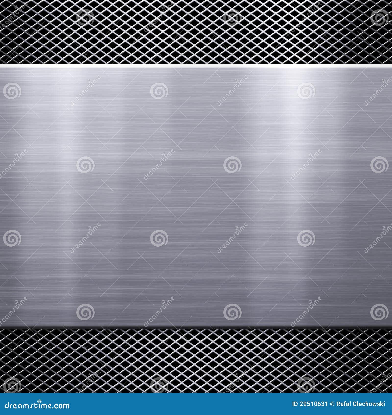 De plaatachtergrond van het metaal