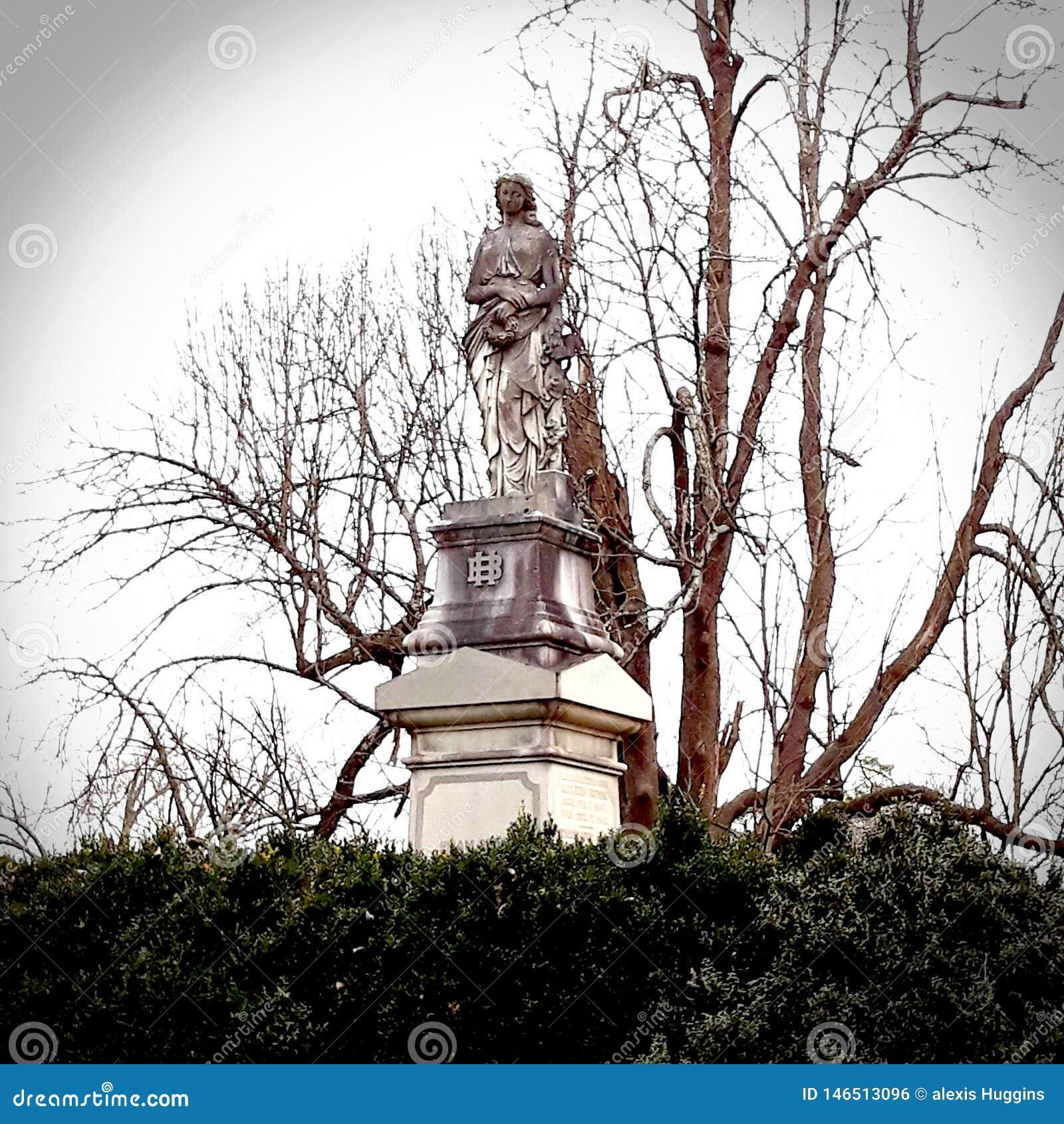 De plaats van de de begraafplaatsbegrafenis van het monumentenfrankfurter worstje van Daniel Boone