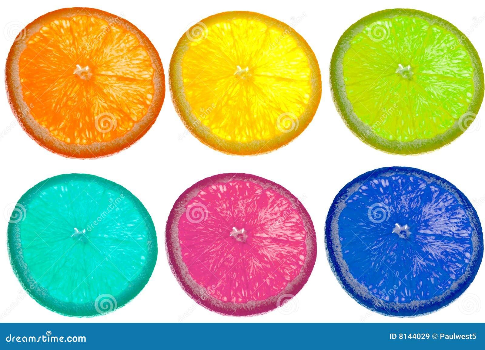 De plak kleurrijk patroon van de citrusvrucht