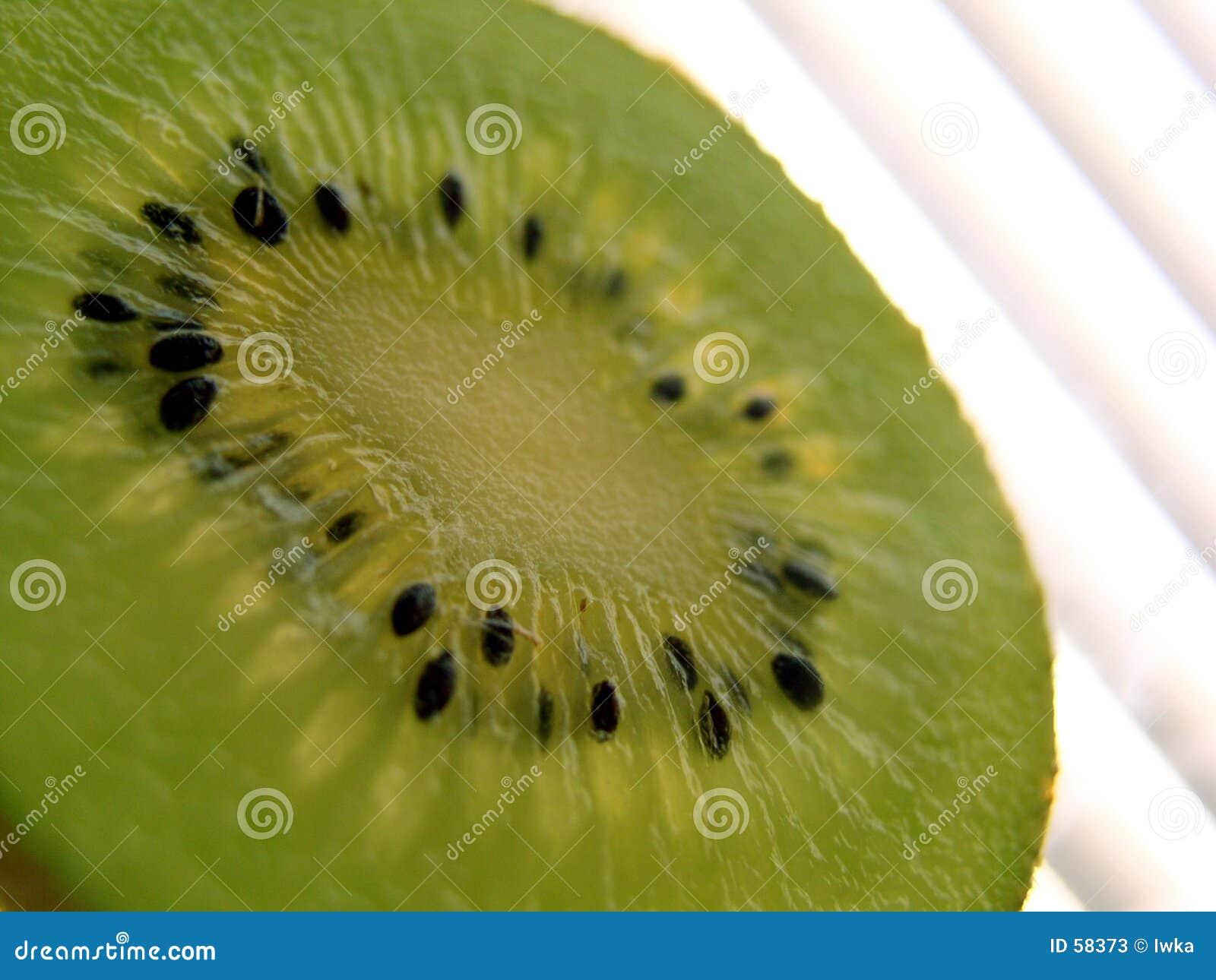 De plak van de kiwi