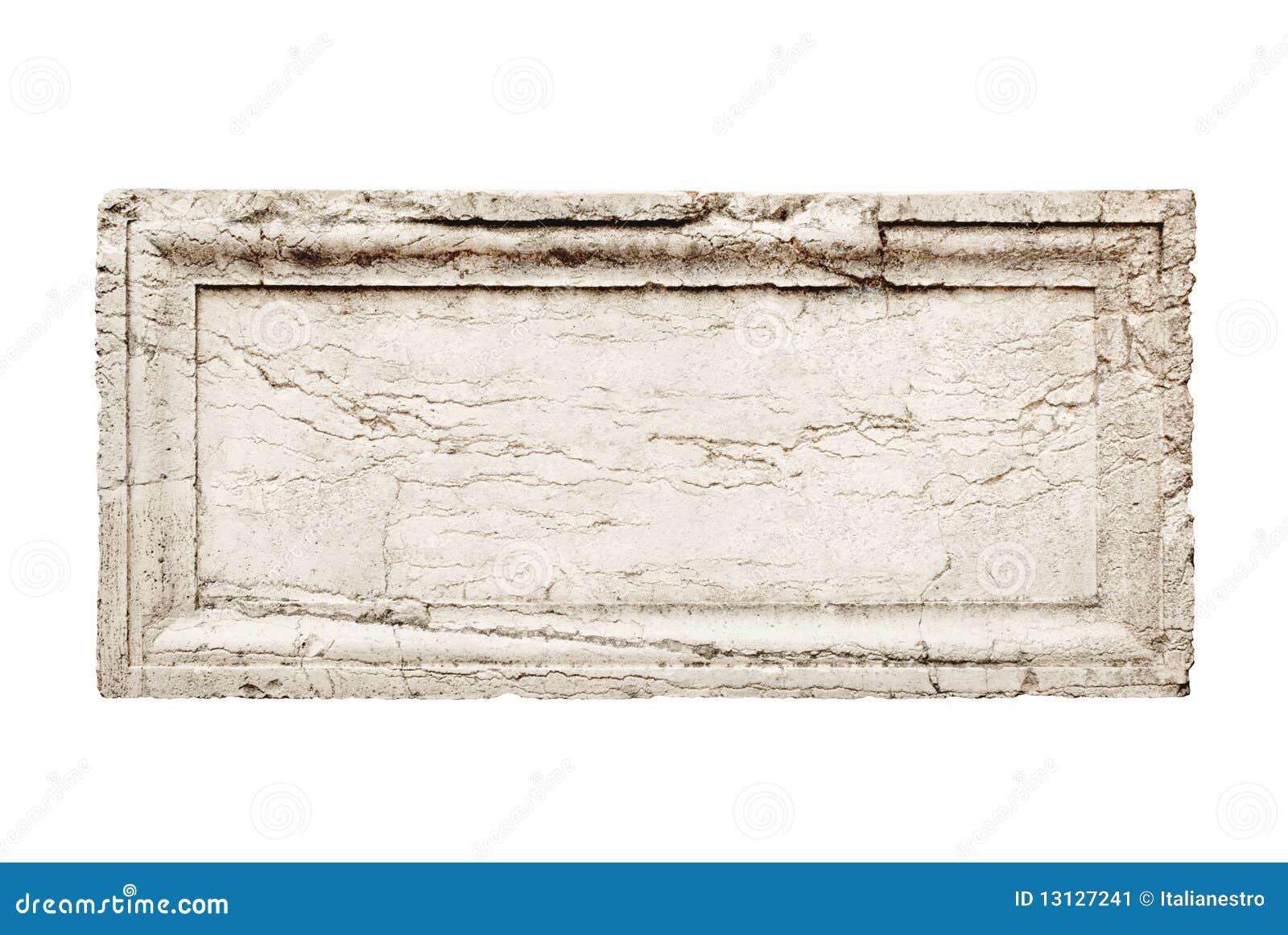 De plak van de steen