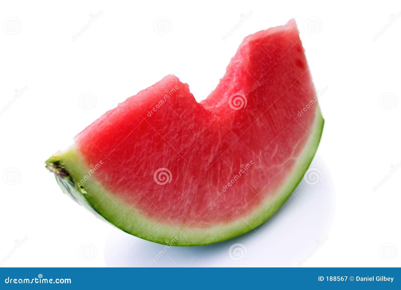 De plak van de watermeloen