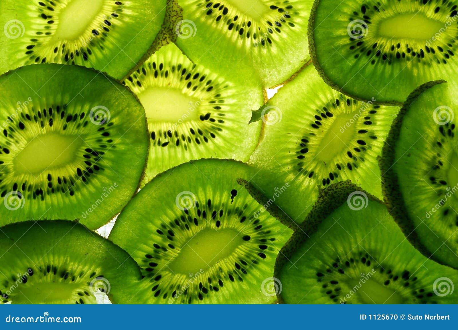 De plakken van de kiwi