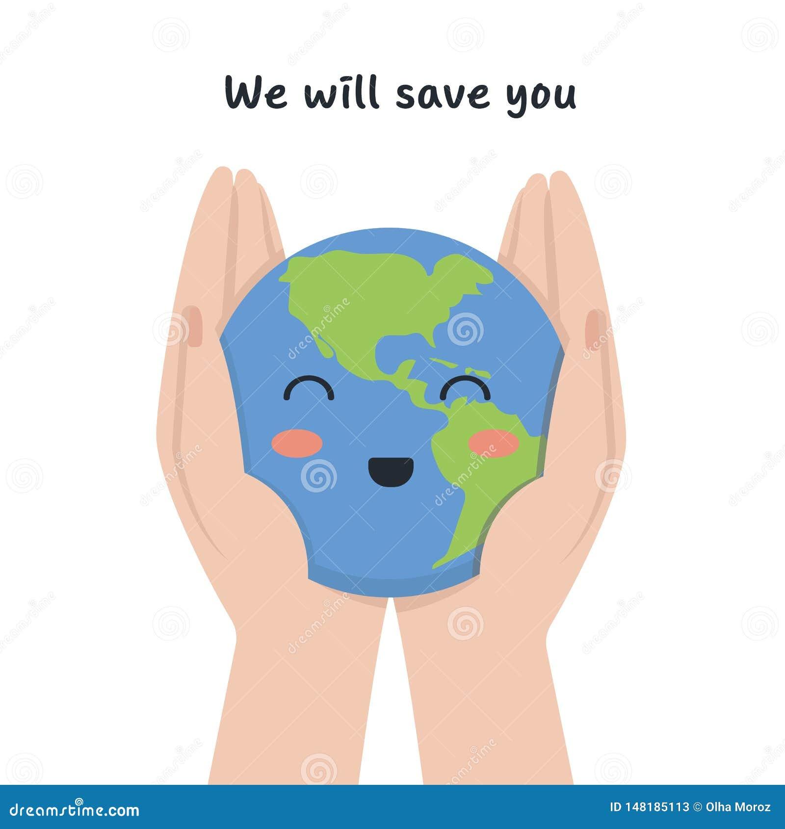 De planeet is in de handen van de mens