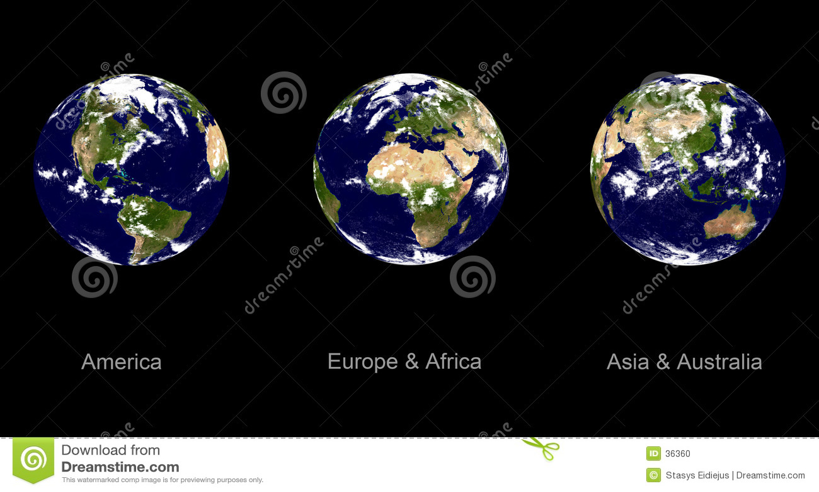 De planeet van de aarde, drie hoeken