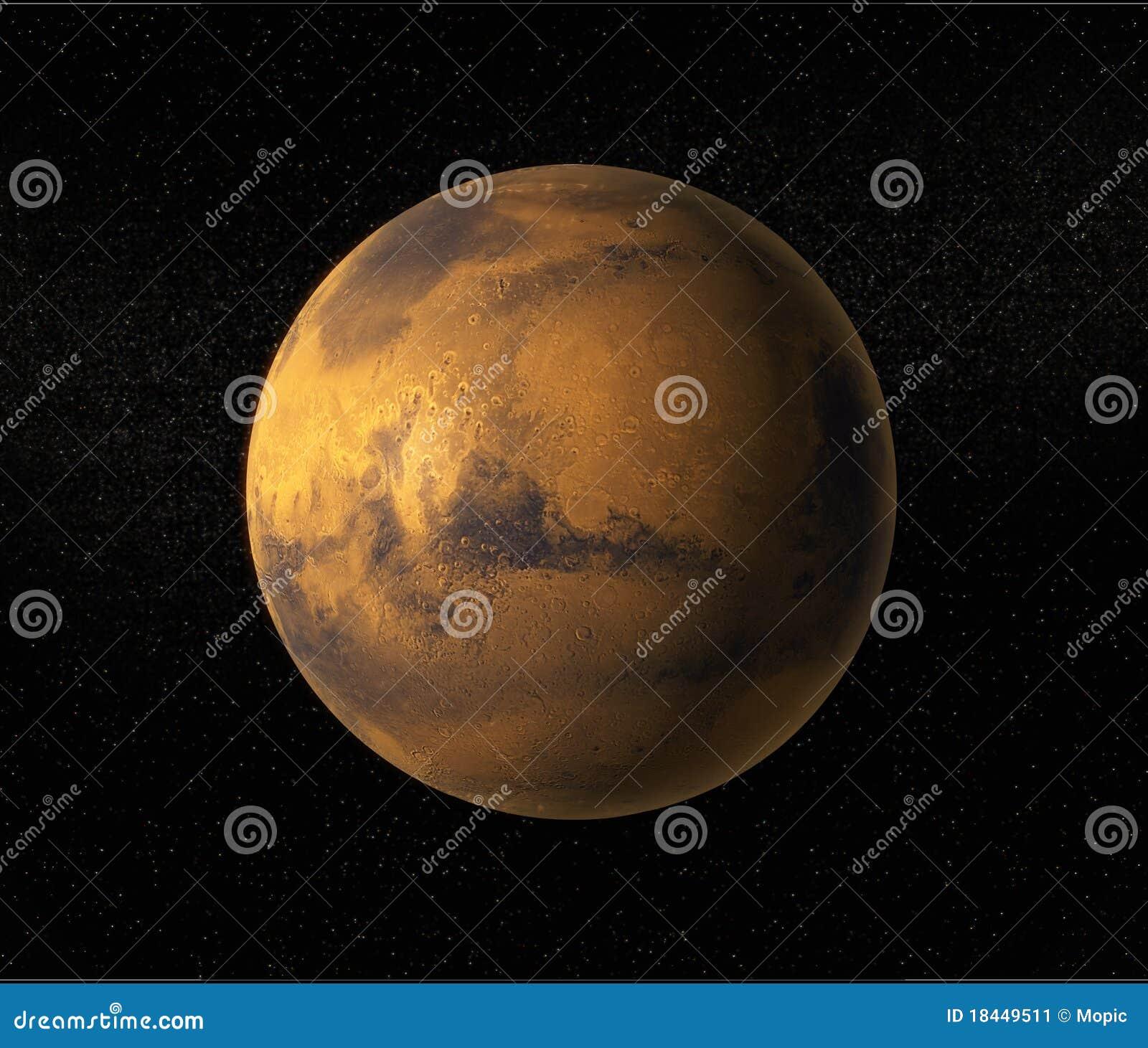 De planeet van Mars