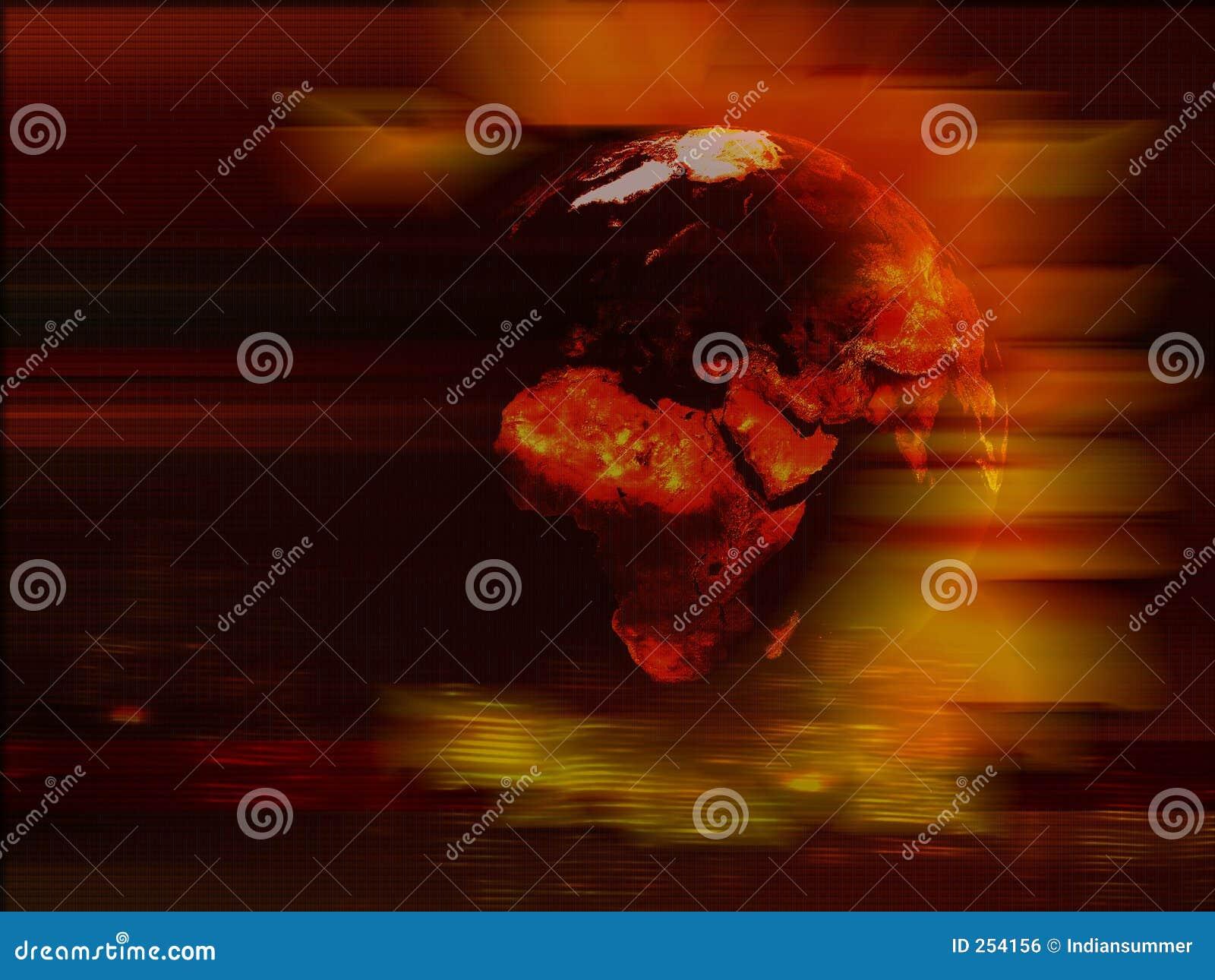 De planeetachtergrond van de aarde