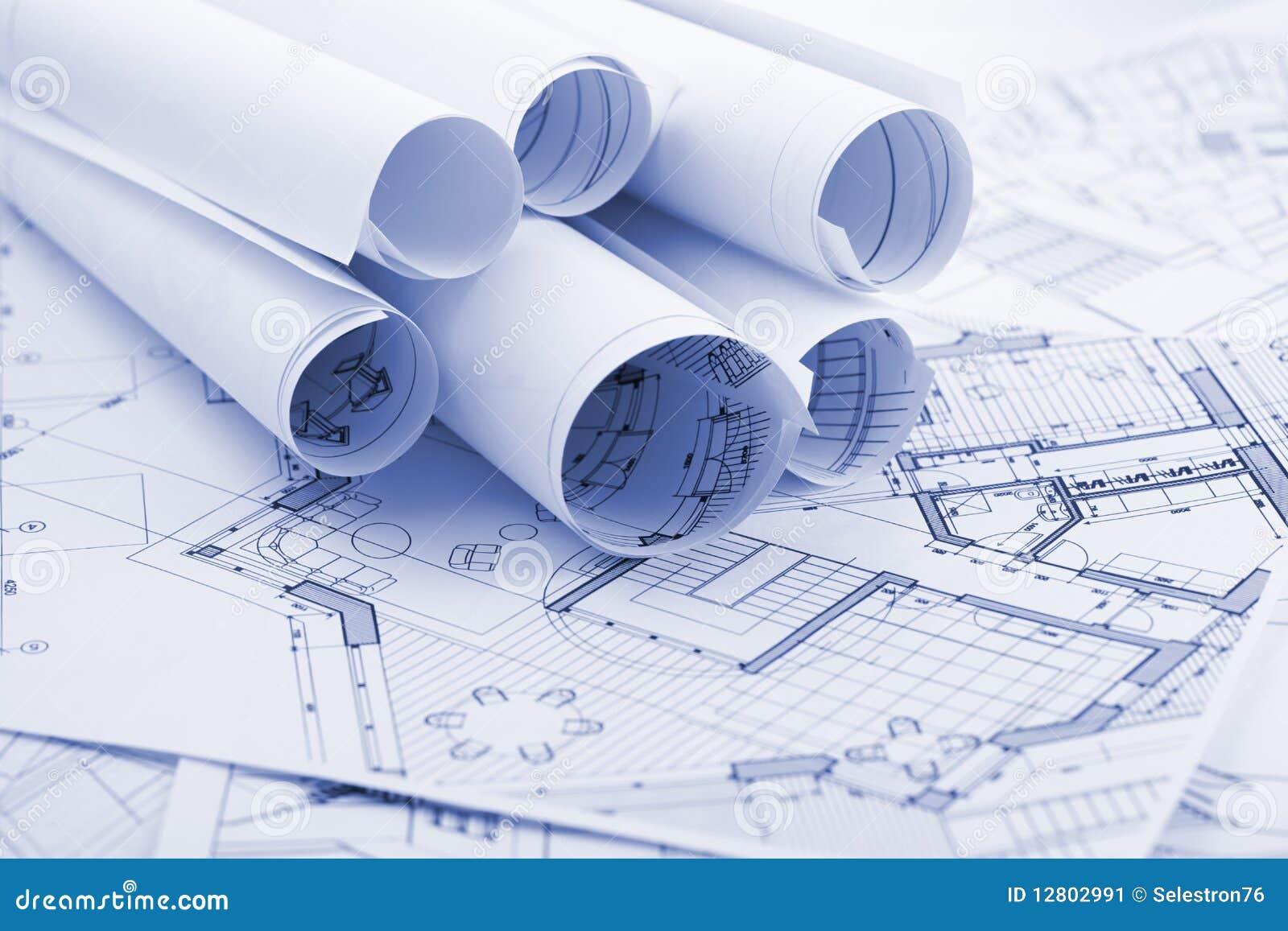 De plannen van de architectuur