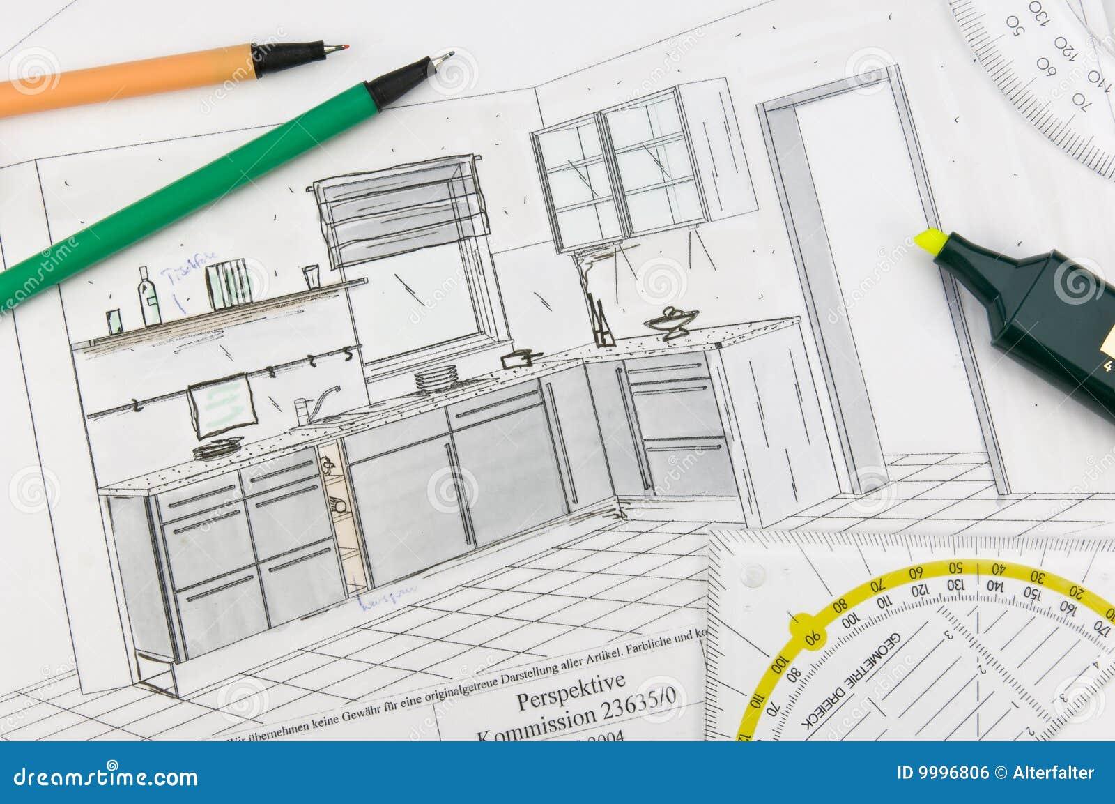 De planning van de keuken