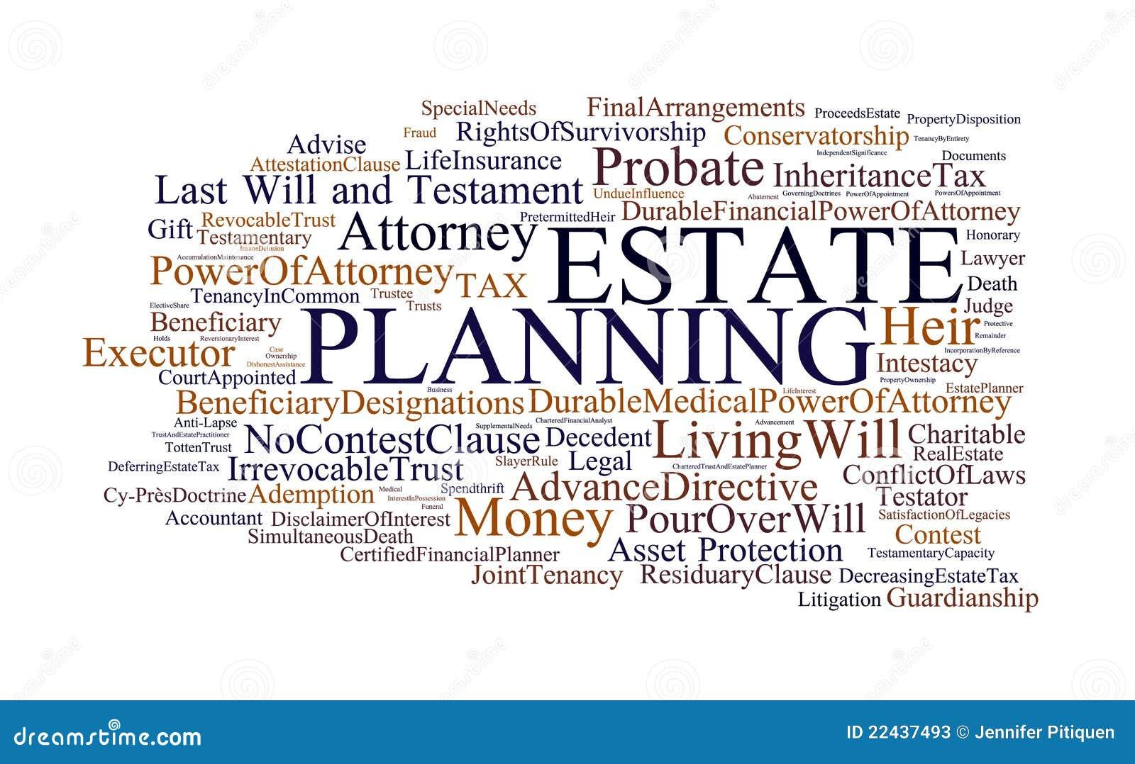 De Planning van het landgoed