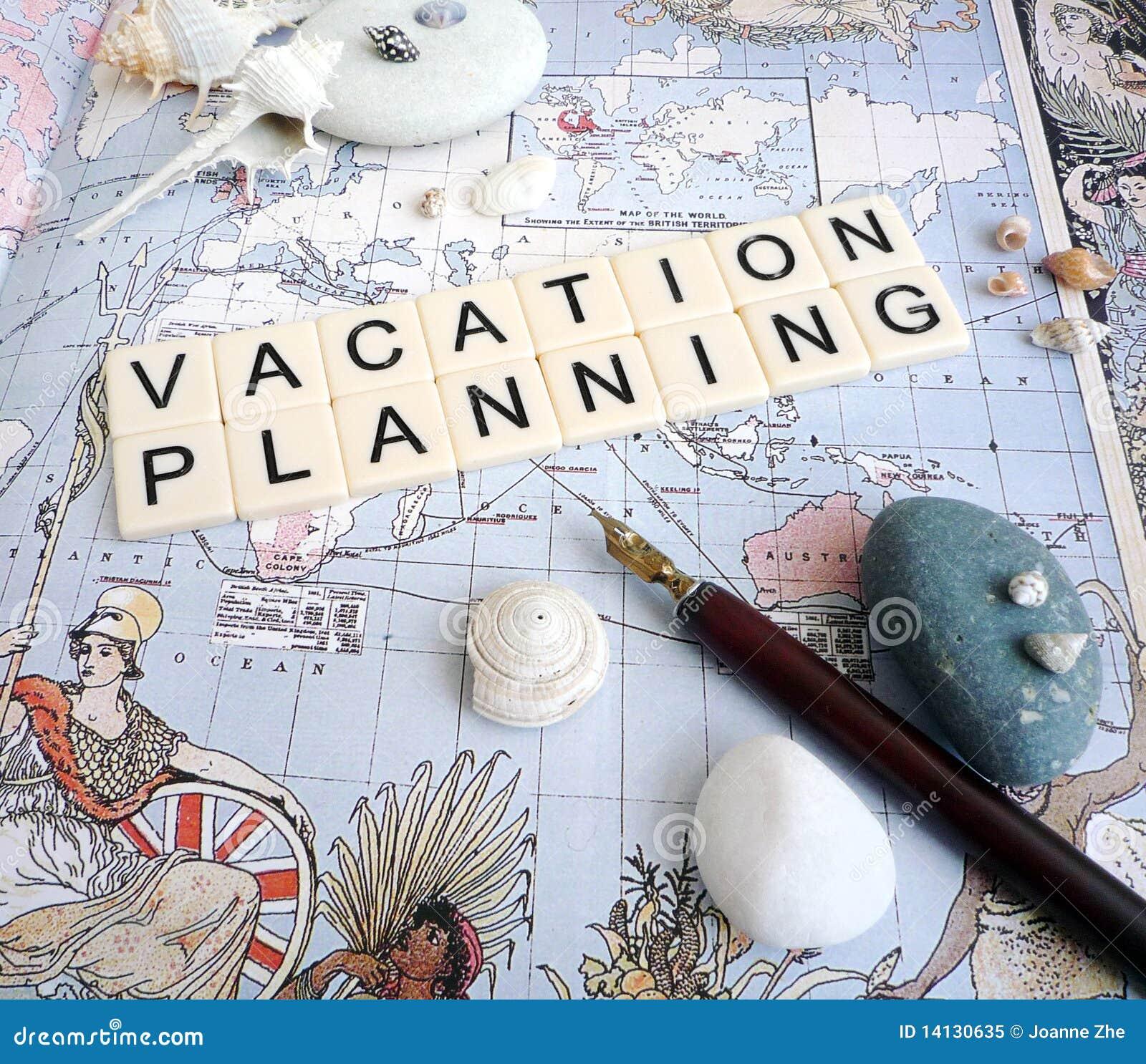 De planningsconcept van de vakantie