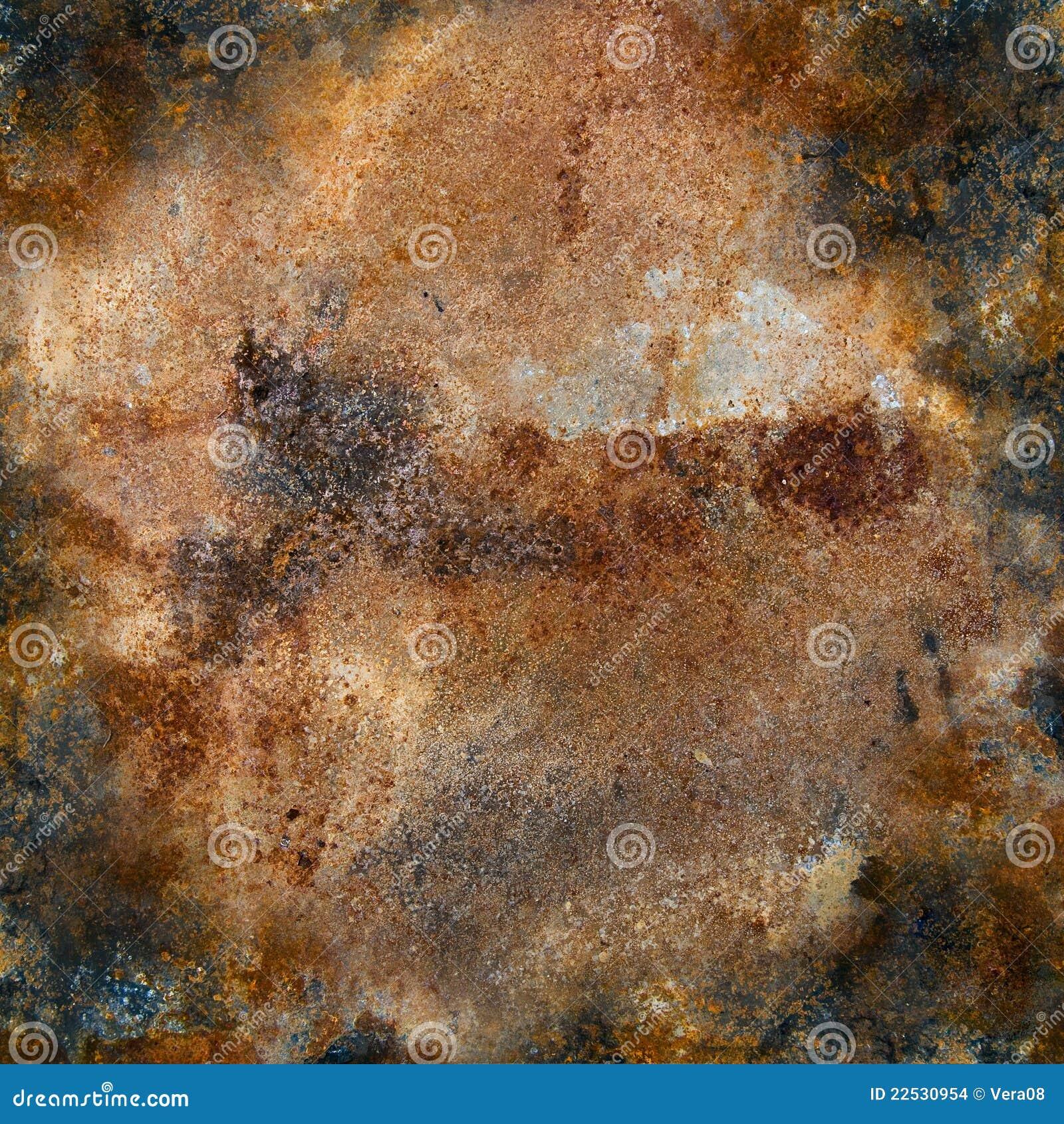 De plaque métallique fortement rouillé