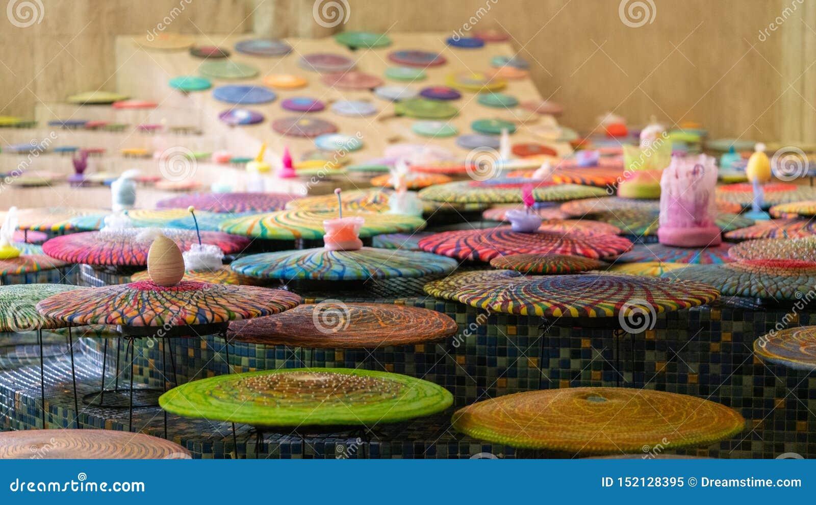 De platen van de kleur