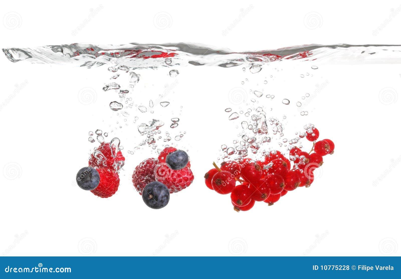 De plons van Berrys in water