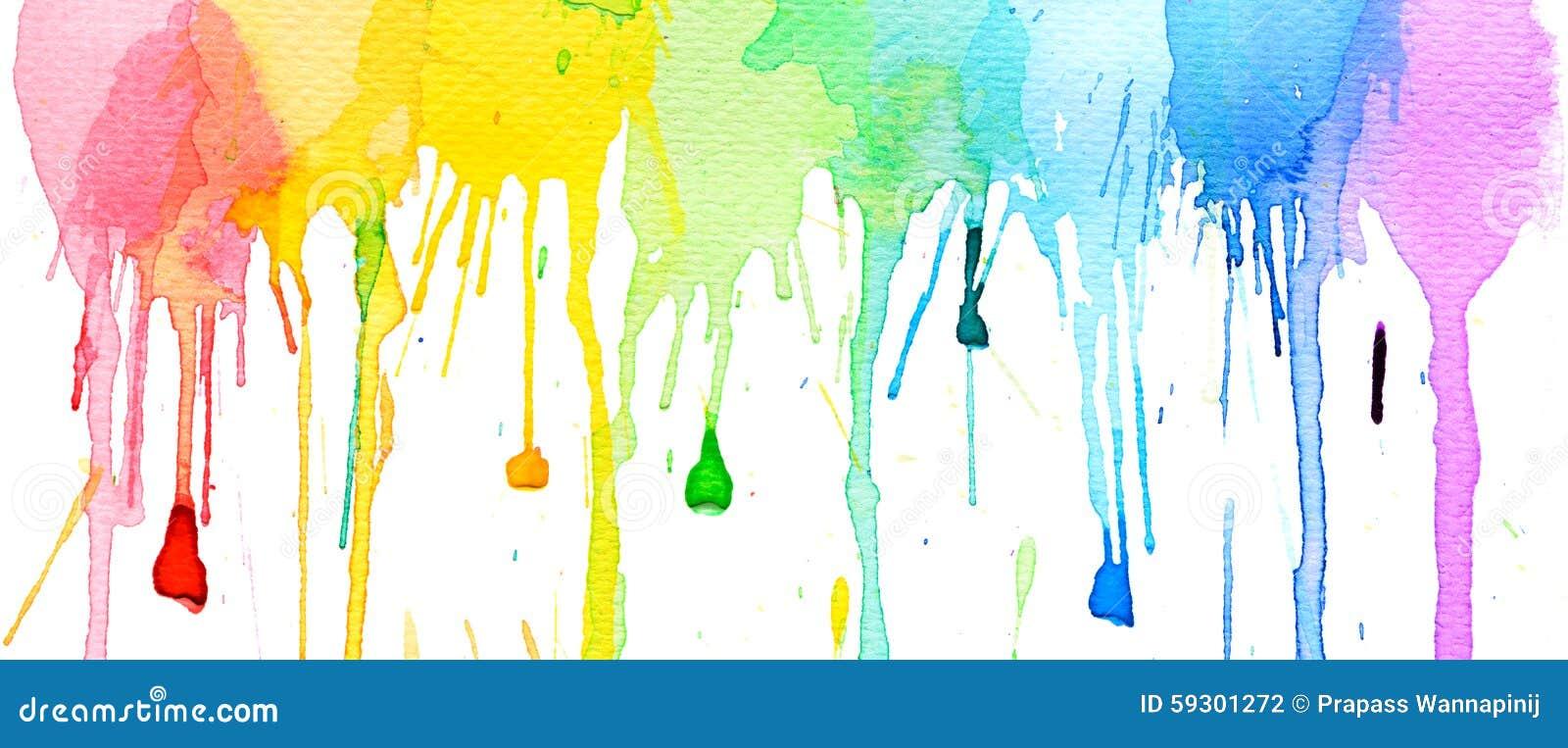 De plonsachtergrond van de waterkleur