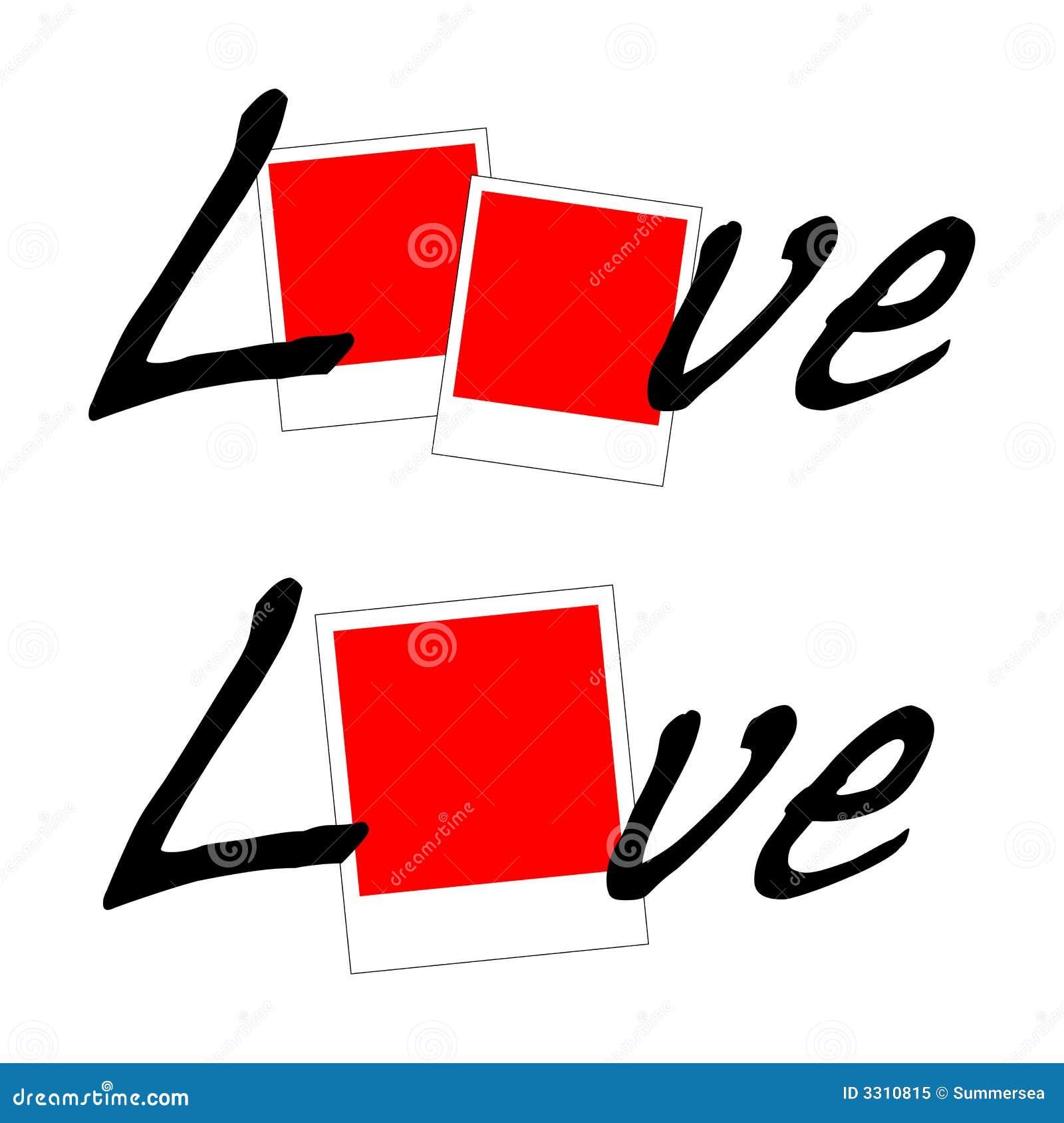 De Polaroid- vector van de liefde