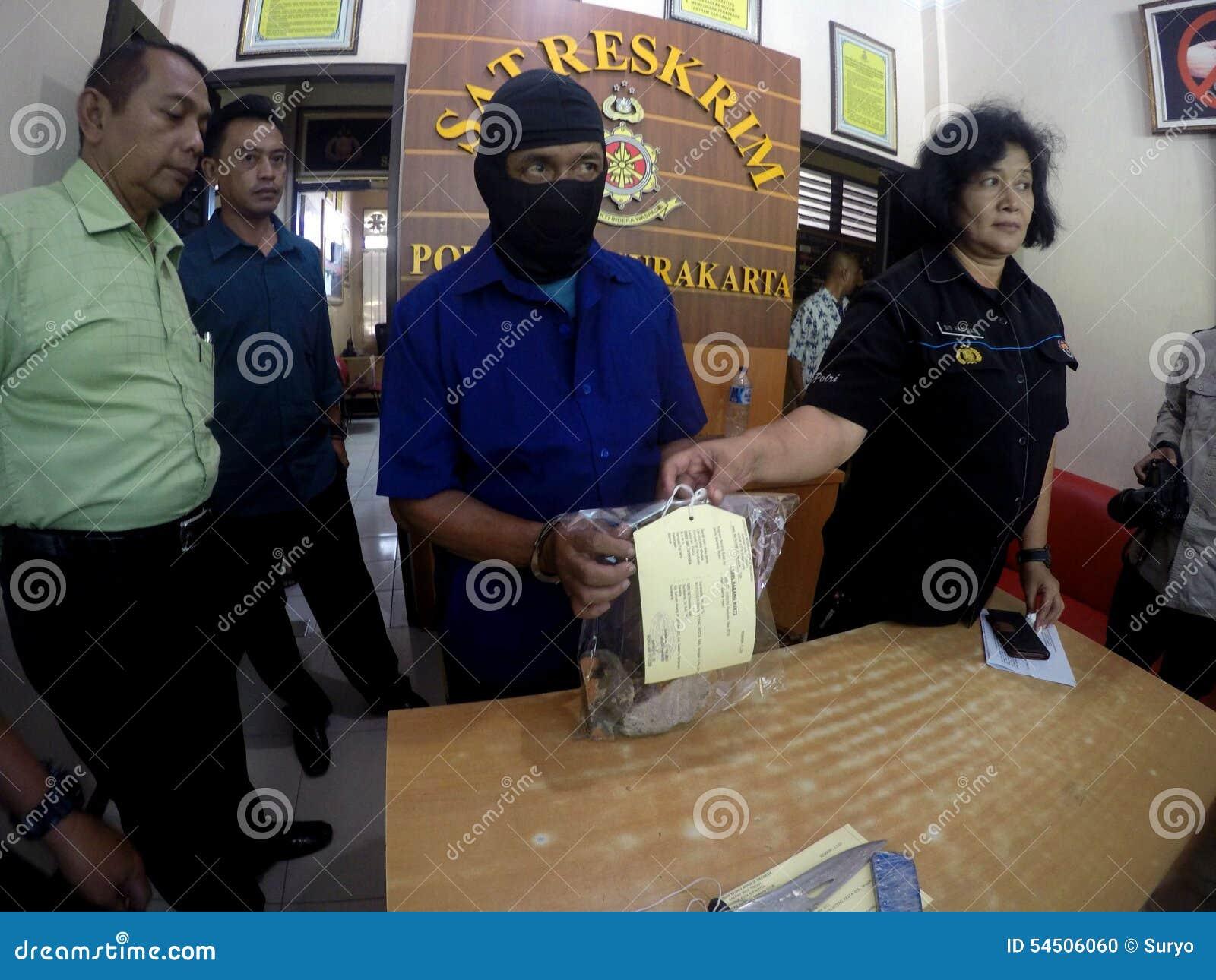 De politie arresteerde de moordenaar