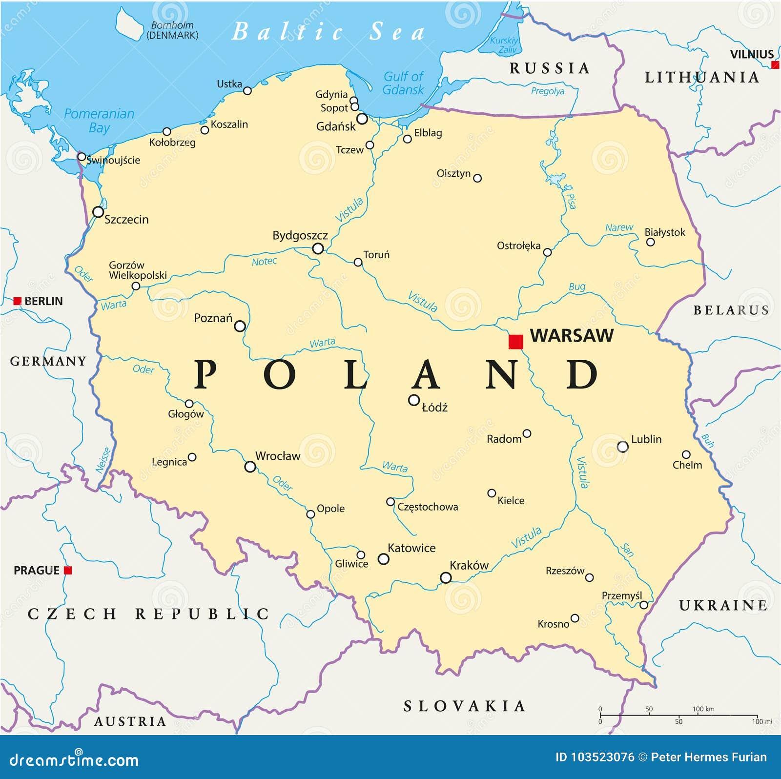 de-politieke-kaart-van-polen-103523076.j