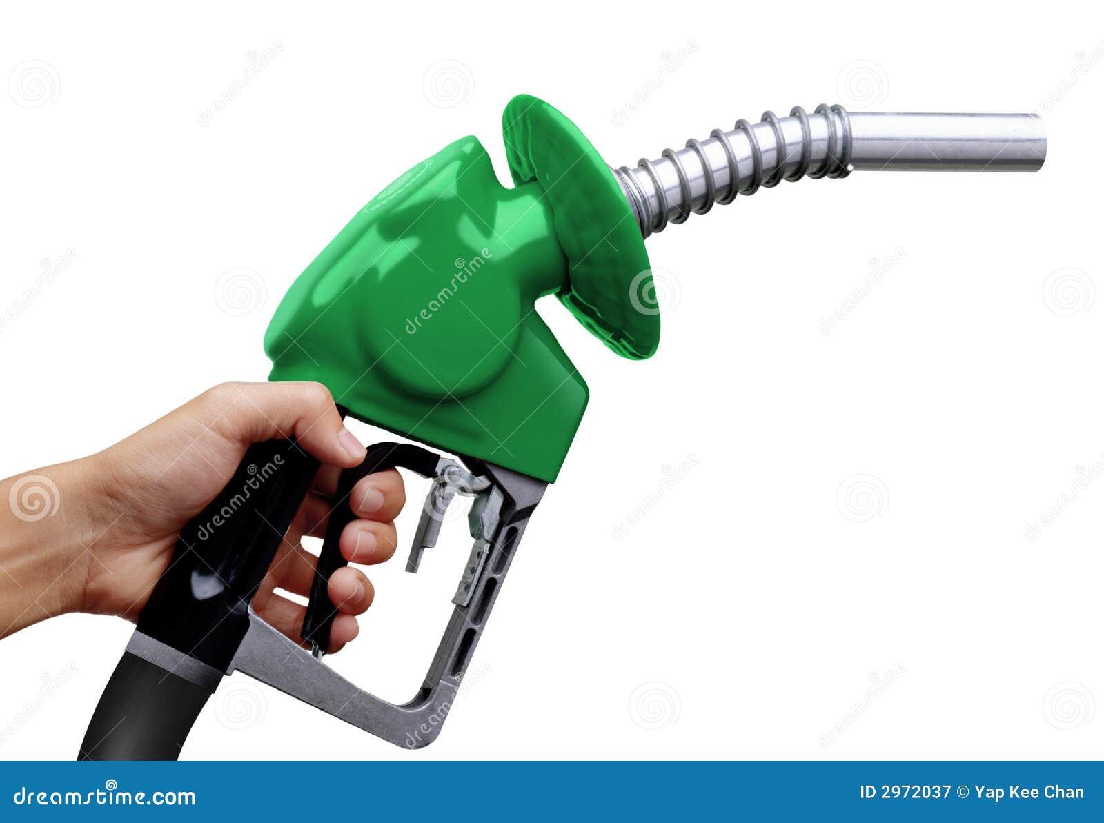 De pomp van de benzine
