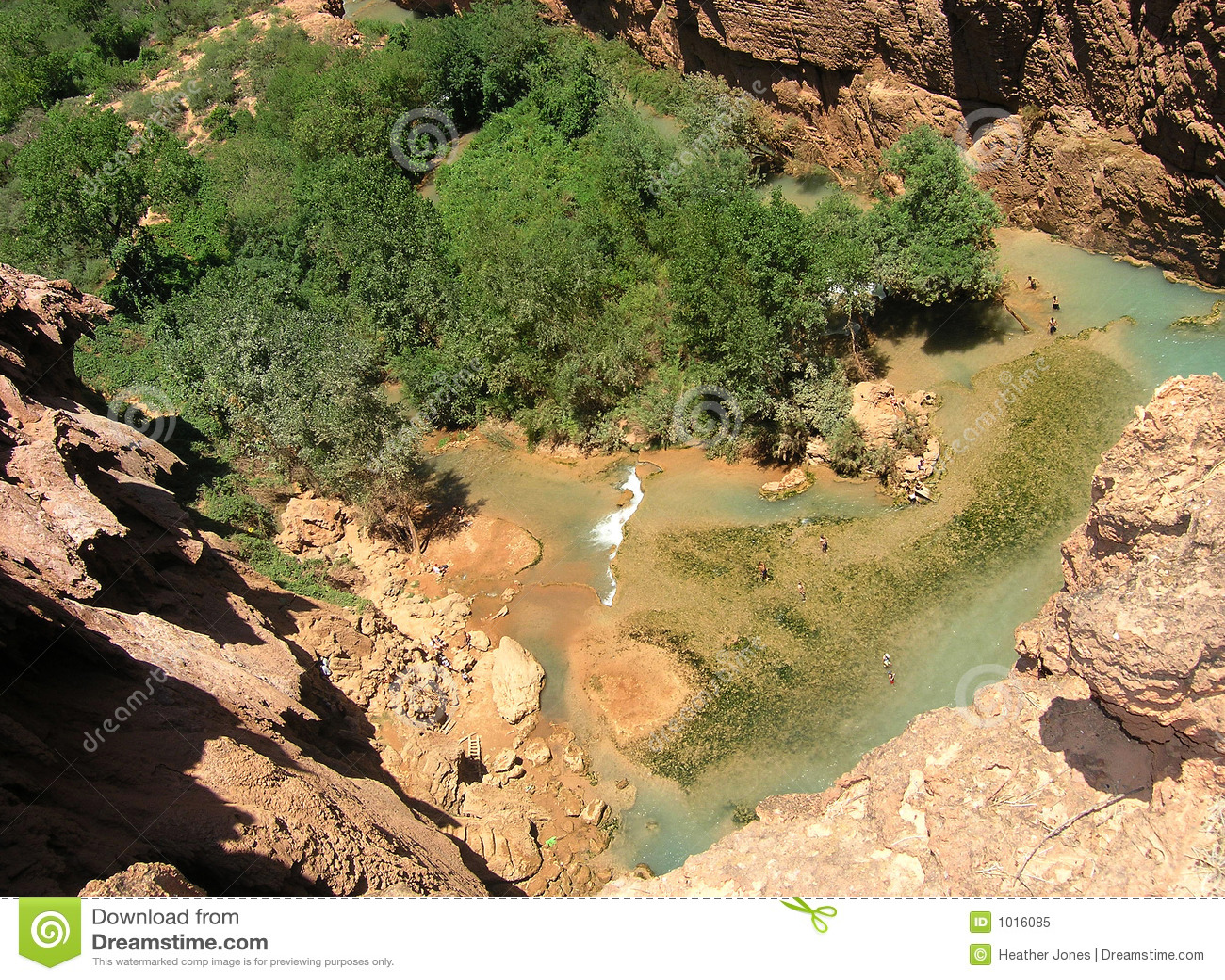De pool van de waterval, Arizona