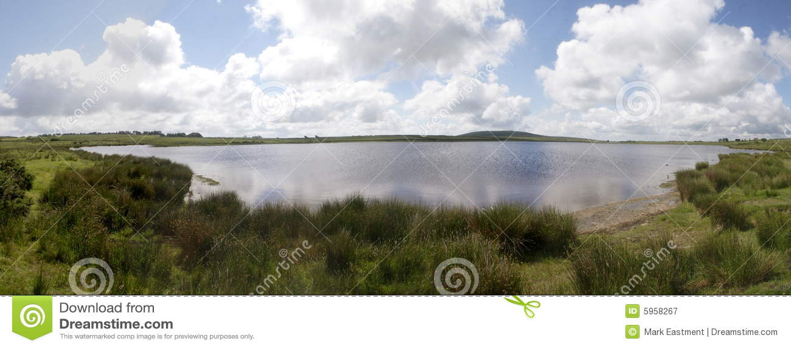 De Pool van Dozmary, Bodmin legt, Cornwall vast