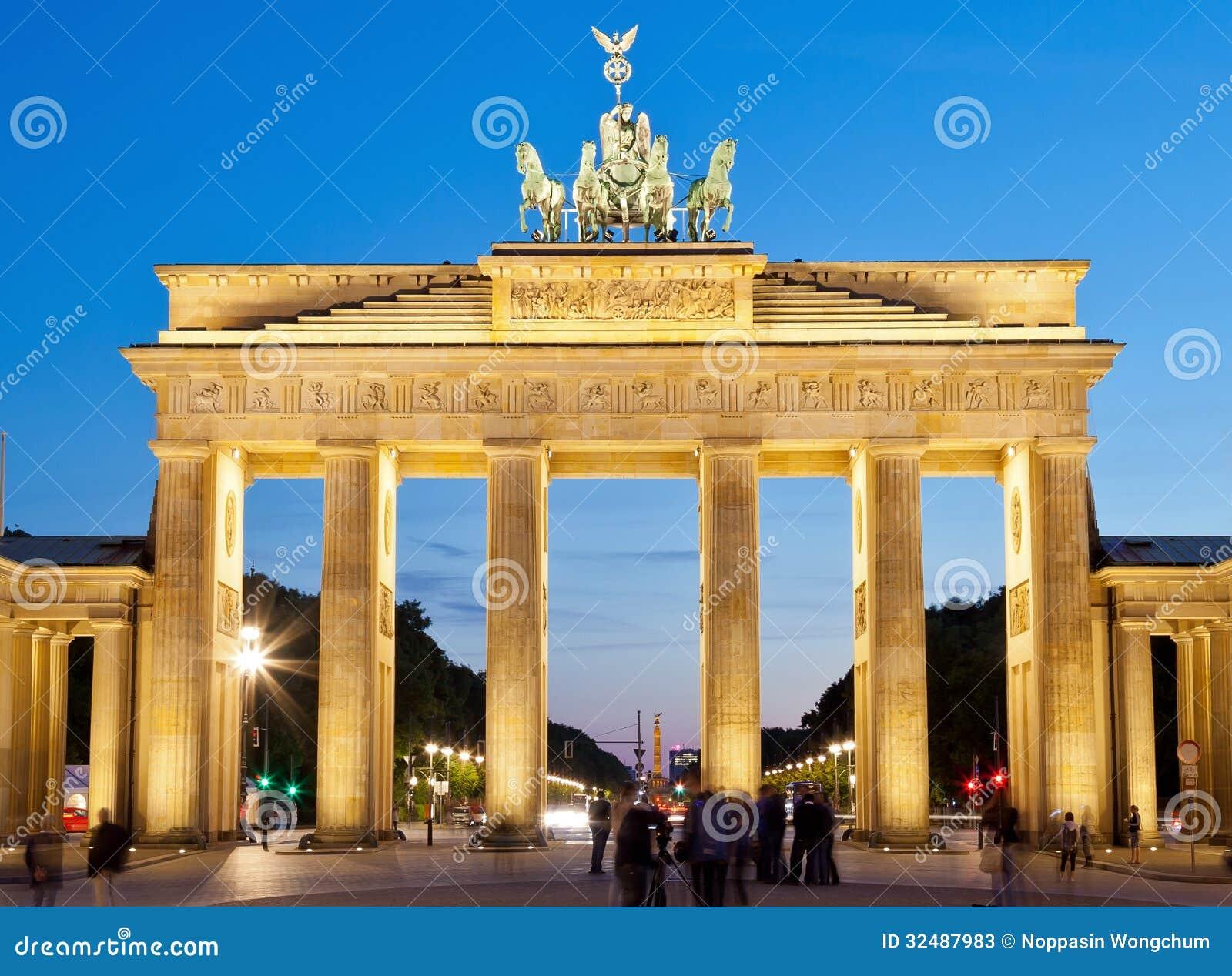 De poort van Brandenburg