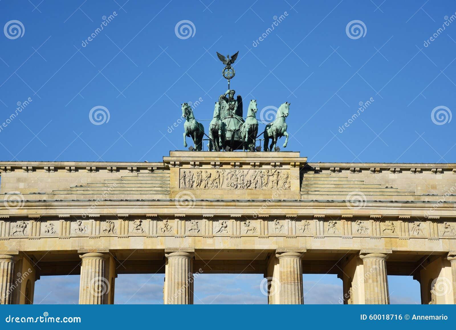 De poort van Brandenburg in Berlijn