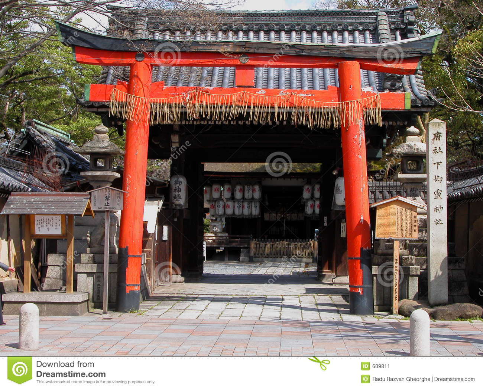 De poort van de tempel