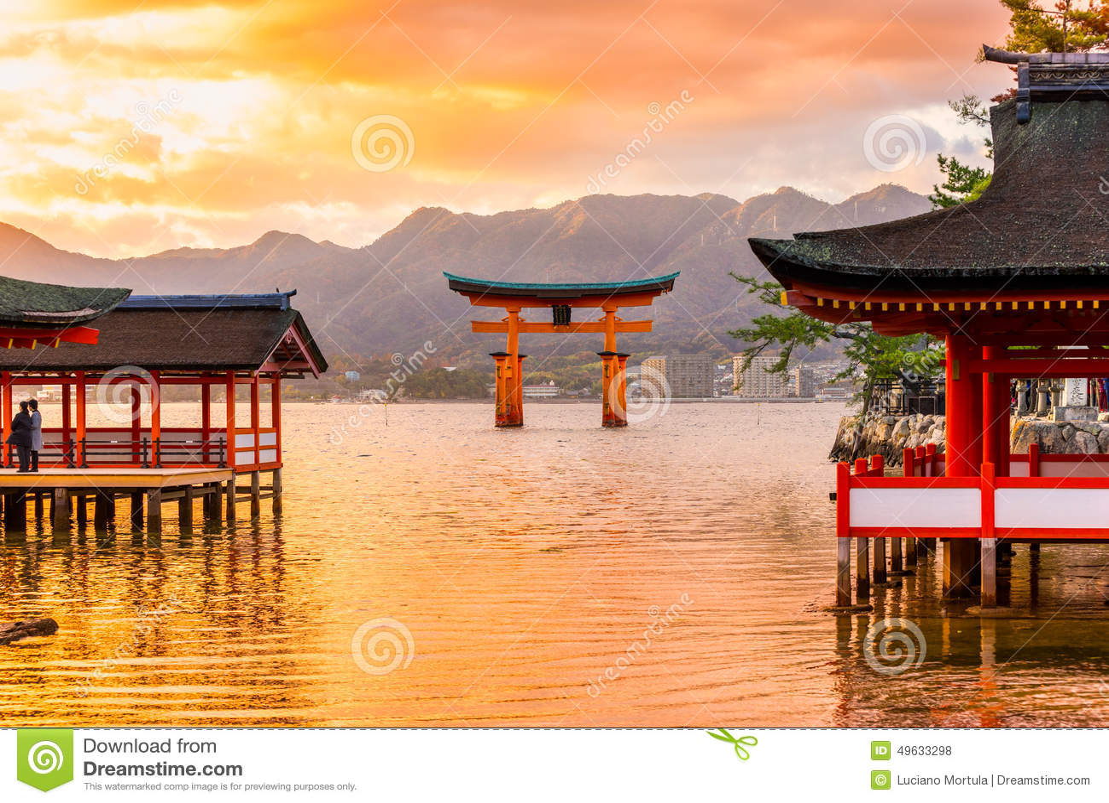 De poort van Miyajimatorii, Japan