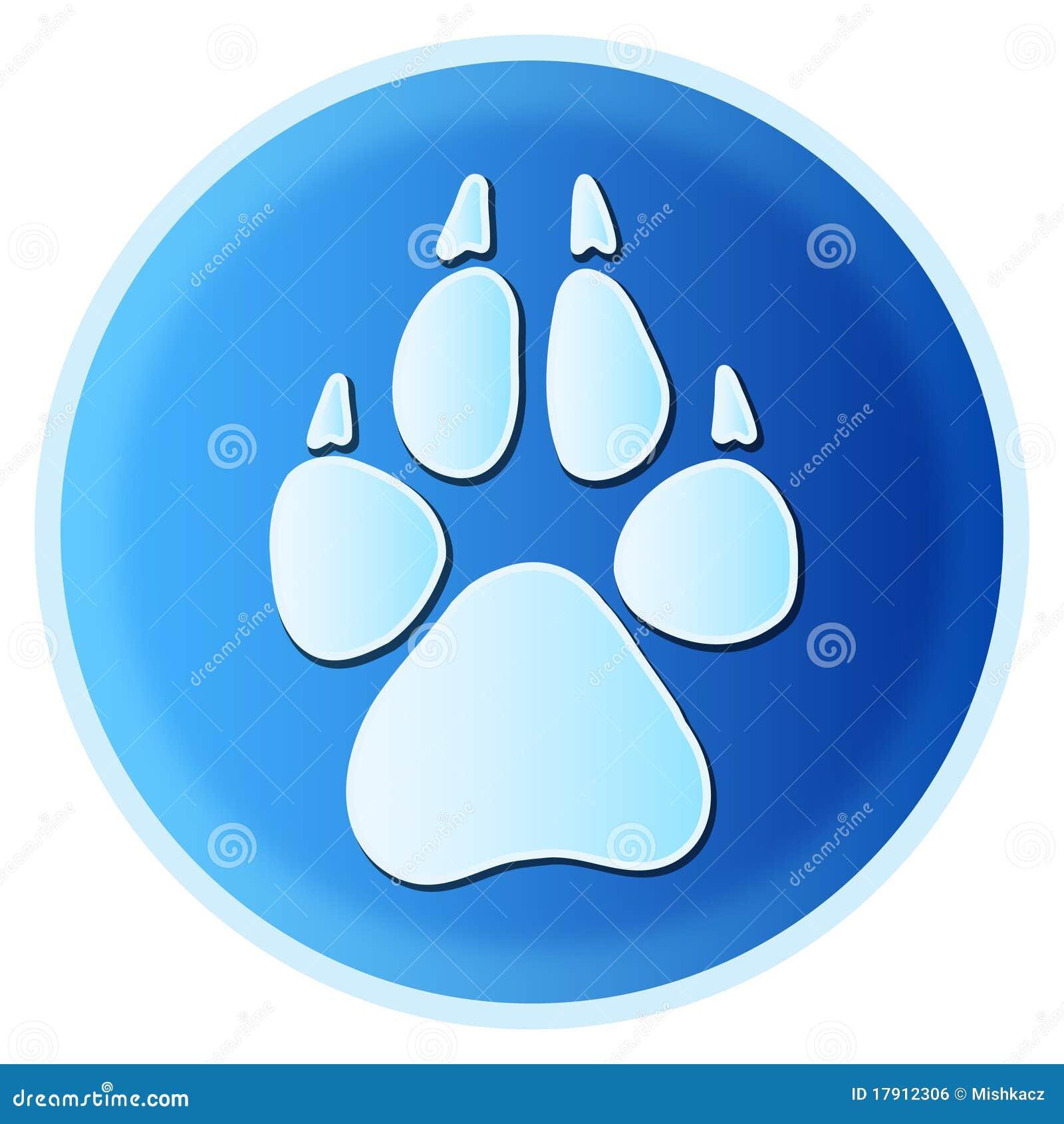 De pootaf:drukken van de hond