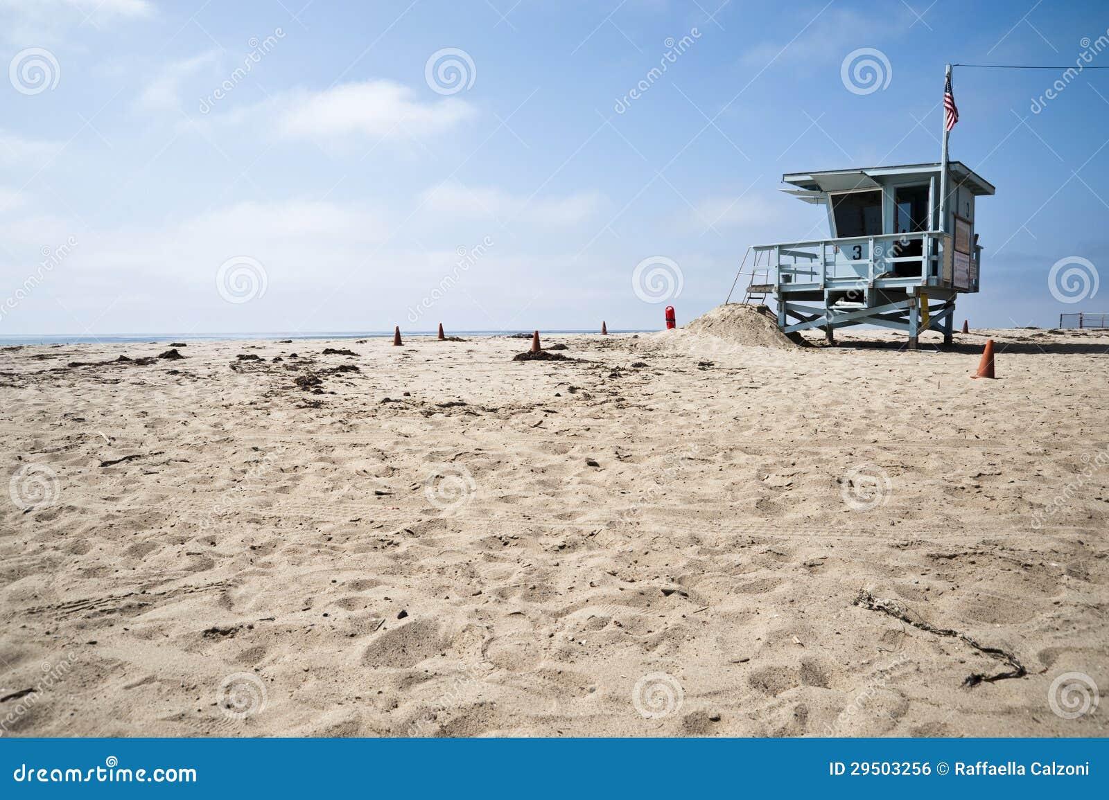 De Post van de badmeester in het Strand Californië van Venetië