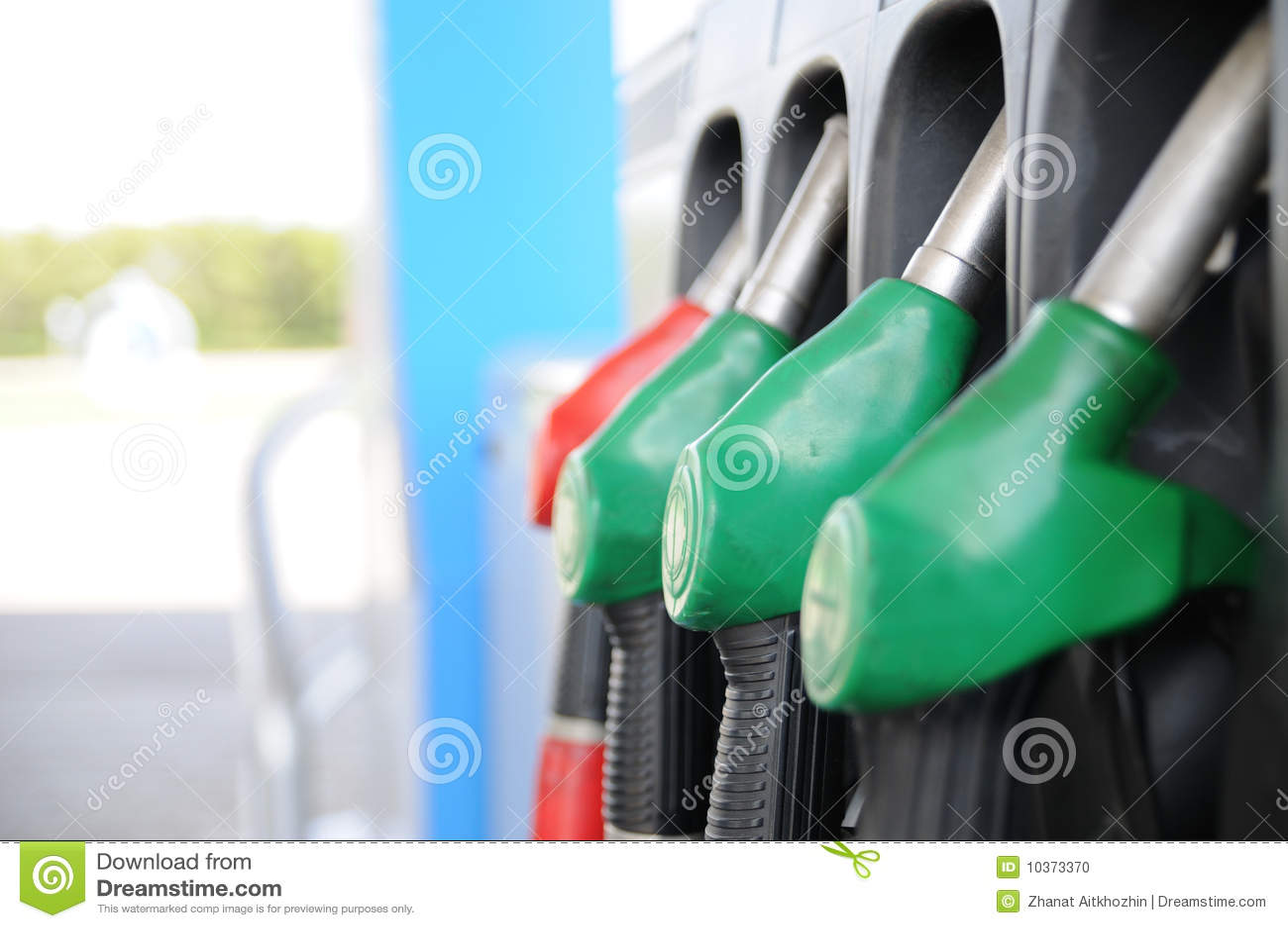 De post van de brandstof