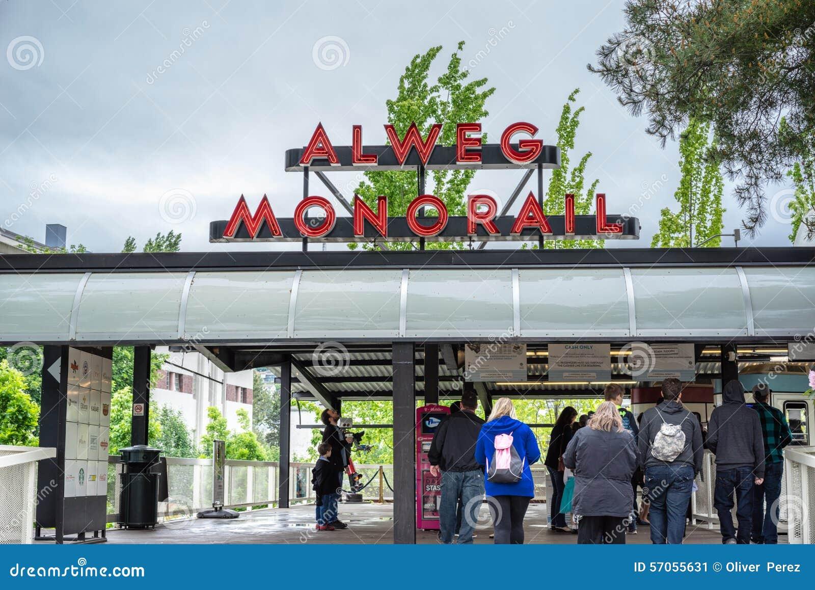 De Post van de het Centrummonorail van Seattle