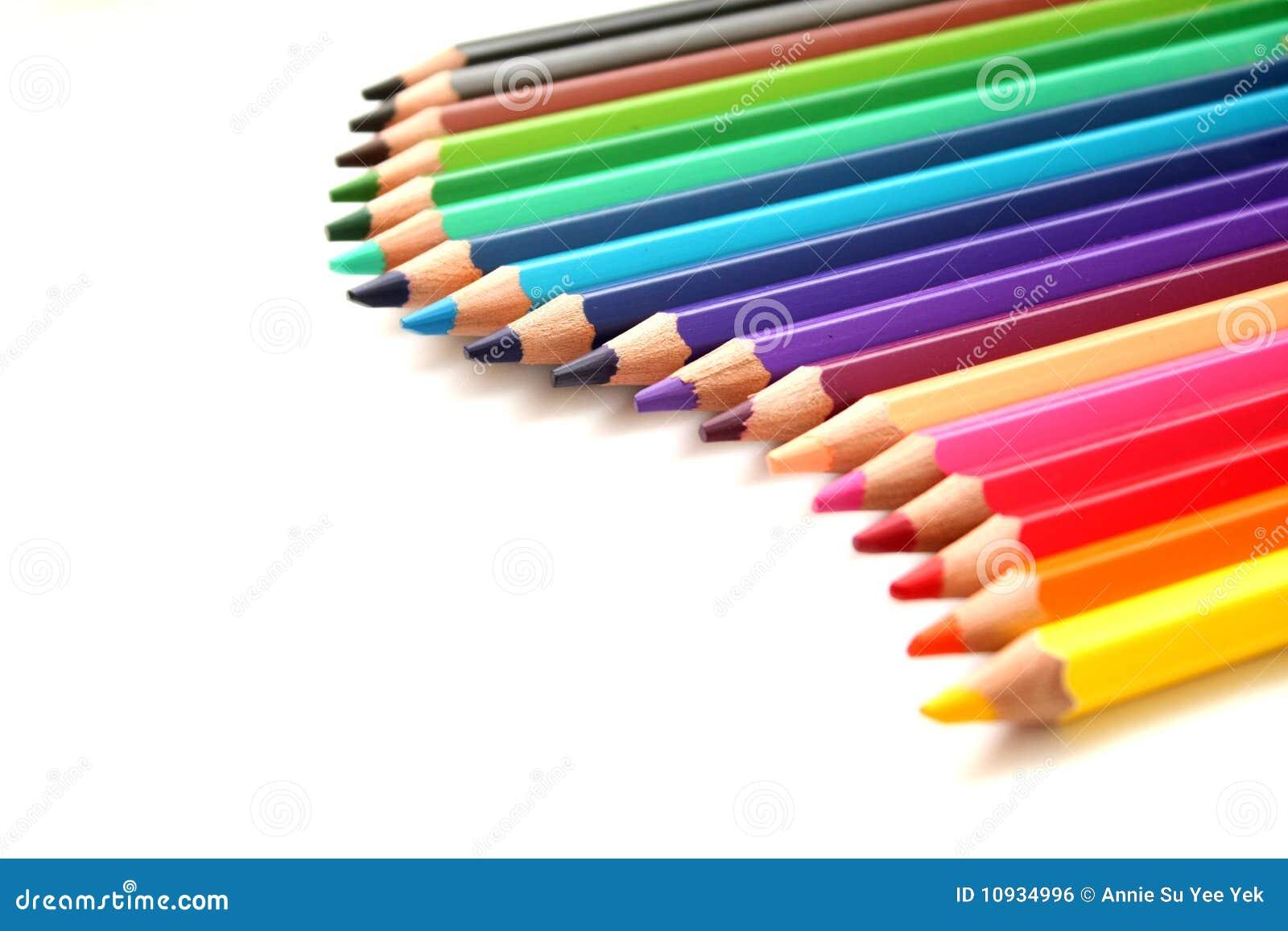 De potloden van de kleur royalty vrije stock afbeelding afbeelding 10934996 - Kleur van meisjeskamers ...