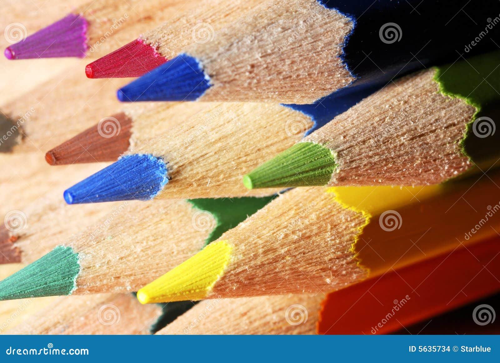 De potlodenmacro van de kleur