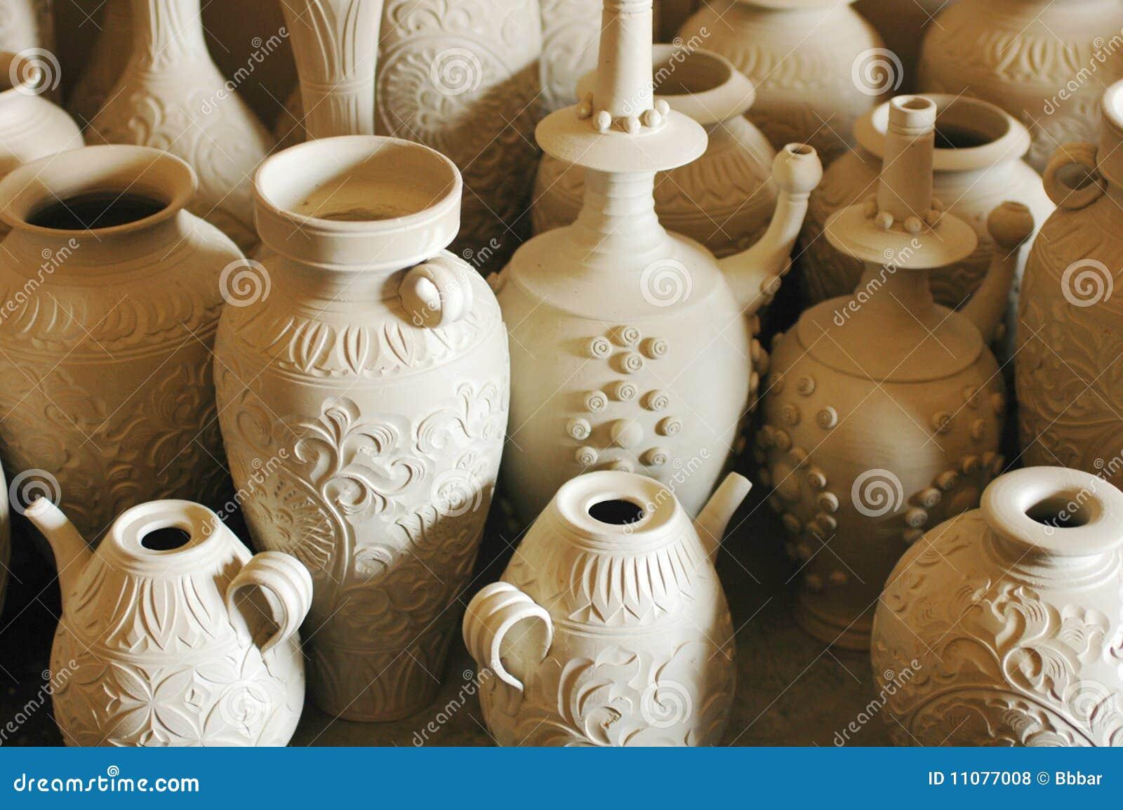 De potten en de vazen van de klei royalty vrije stock foto for Potten en vazen