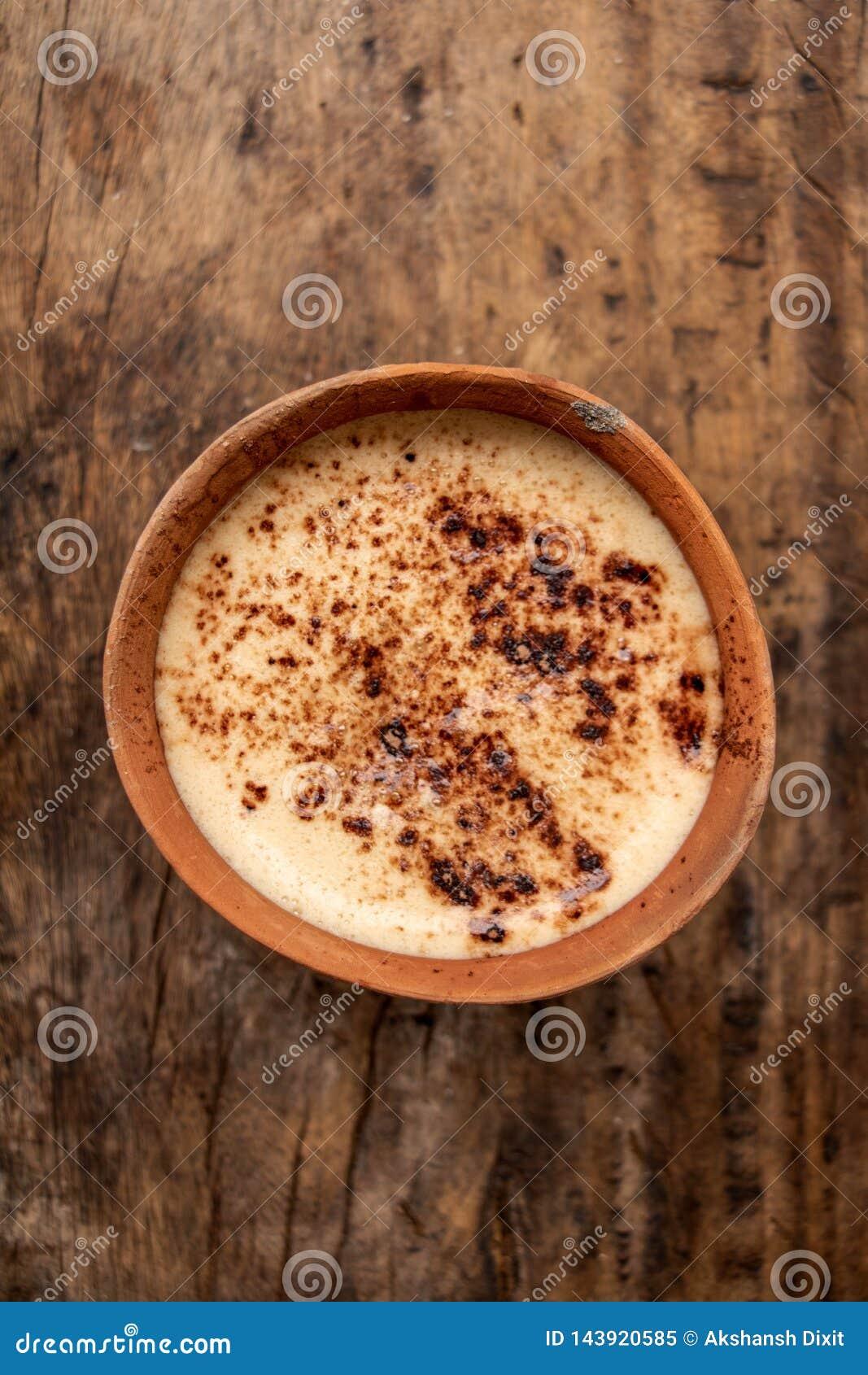 De Pottenkoffie van de Kulhad Indische Klei