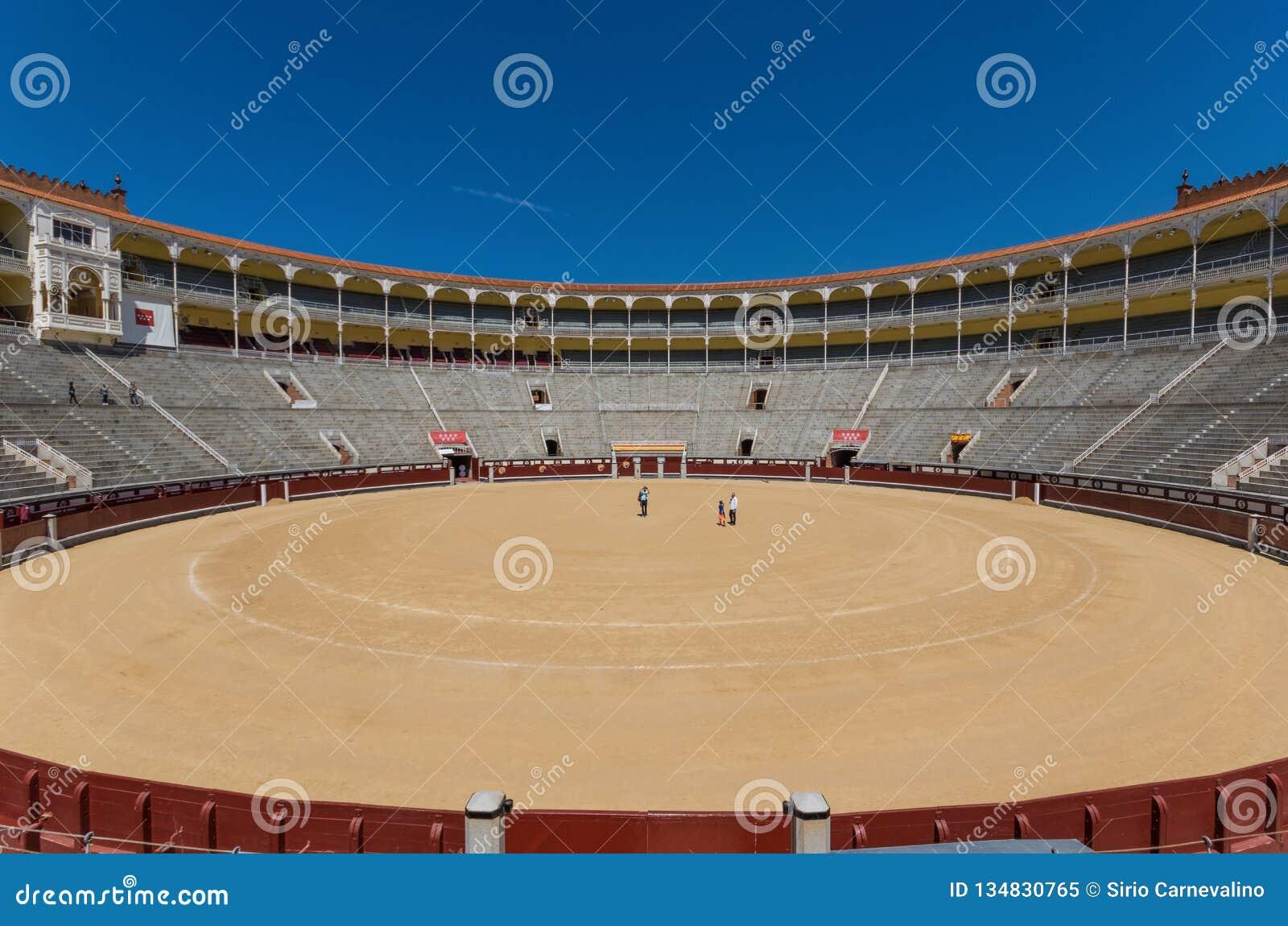 De prachtige Arena van Las Ventas van Madrid, Spanje