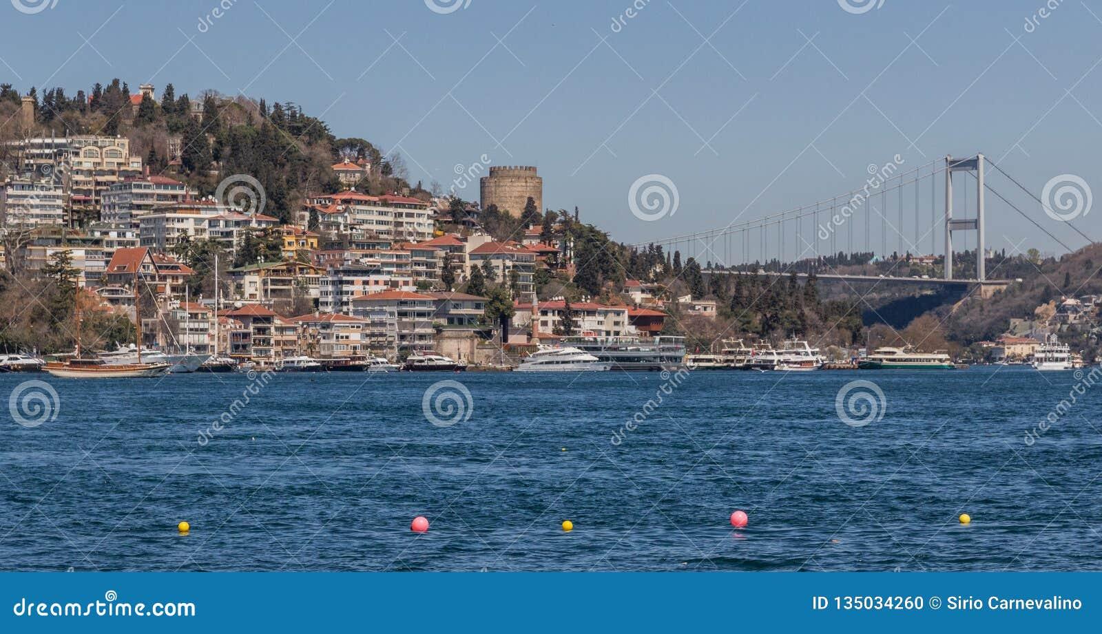 De prachtige Straat van Bosporus van Istanboel Turkije