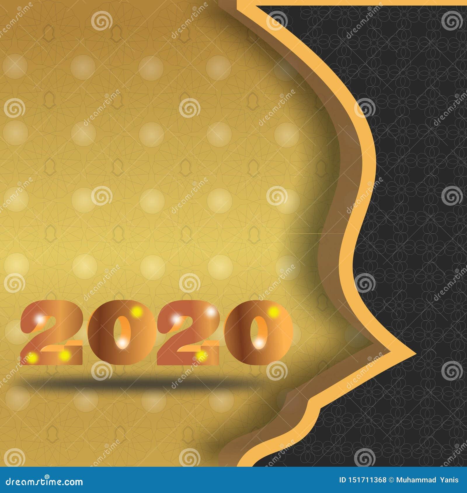 De premie gouden nieuw jaar van 2020 backgrouds