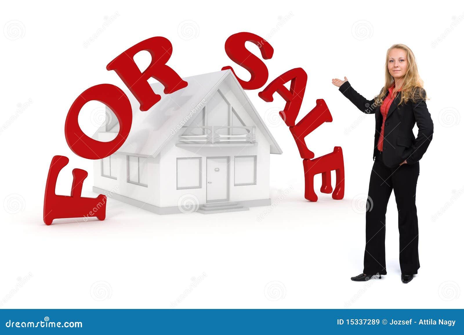 De presentatie van het huis voor verkoop stock illustratie afbeelding 15337289 - Huis verkoop ...