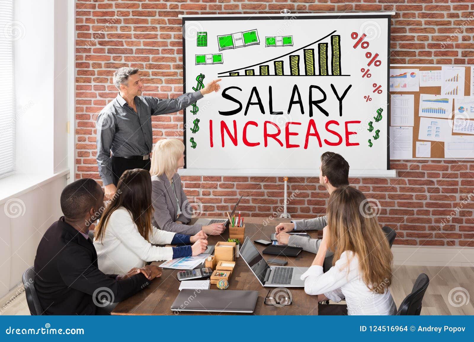 De Presentatie van de salarisverhoging