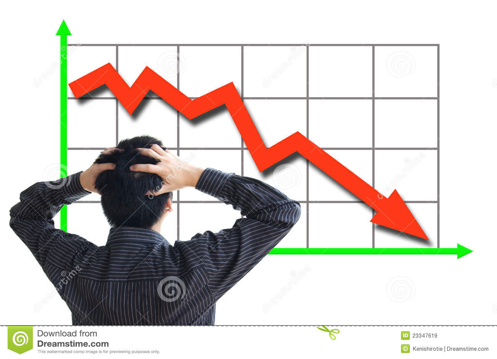 De prijs van de voorraad het dalen