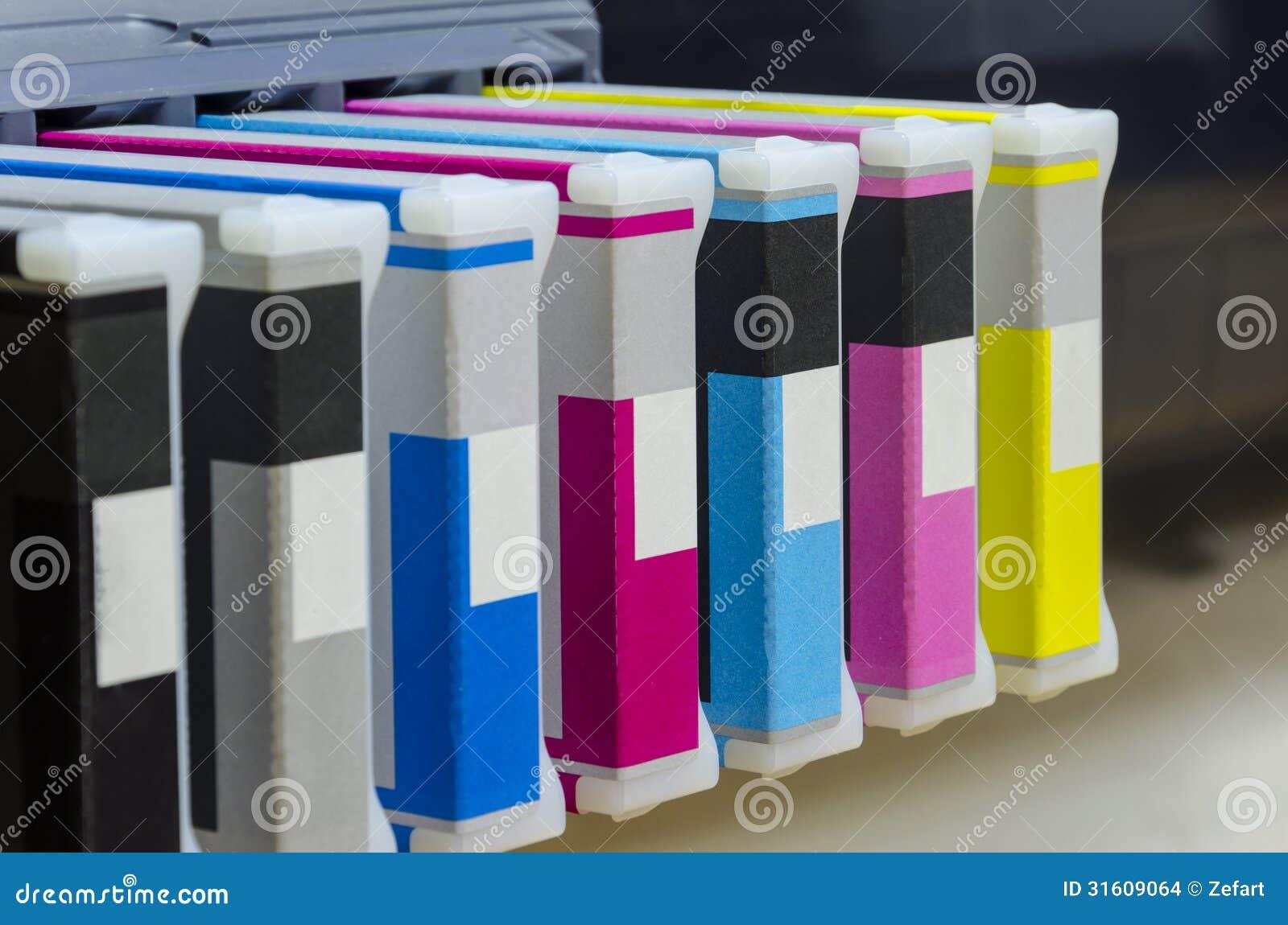 De printertoner van groot formaatinkjet casetas
