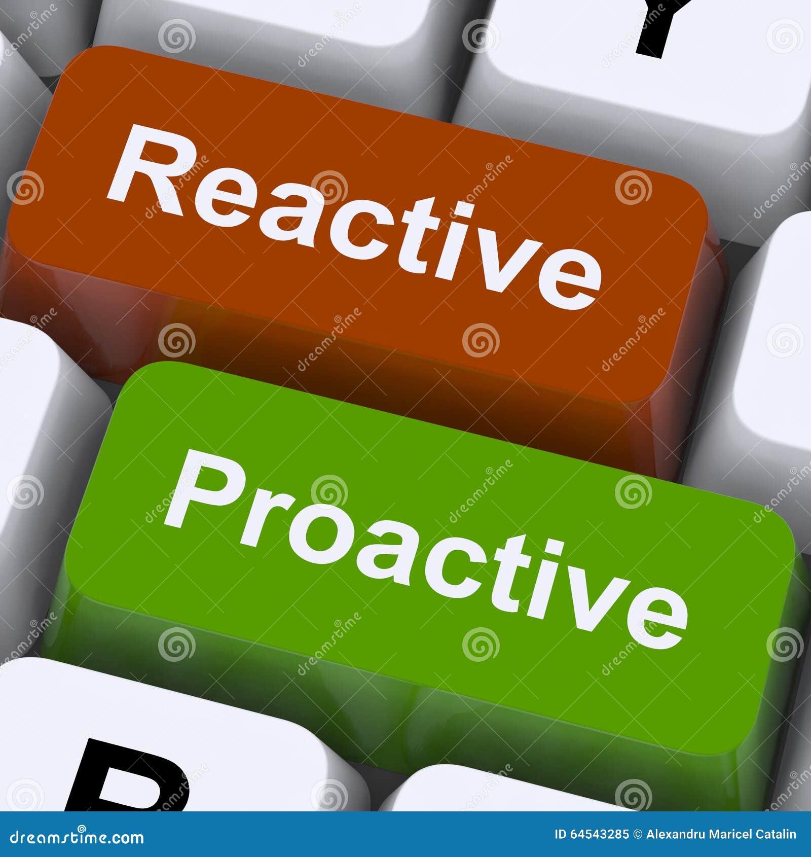 De pro-actieve en Reactieve Sleutels tonen Initiatief en Verbetering