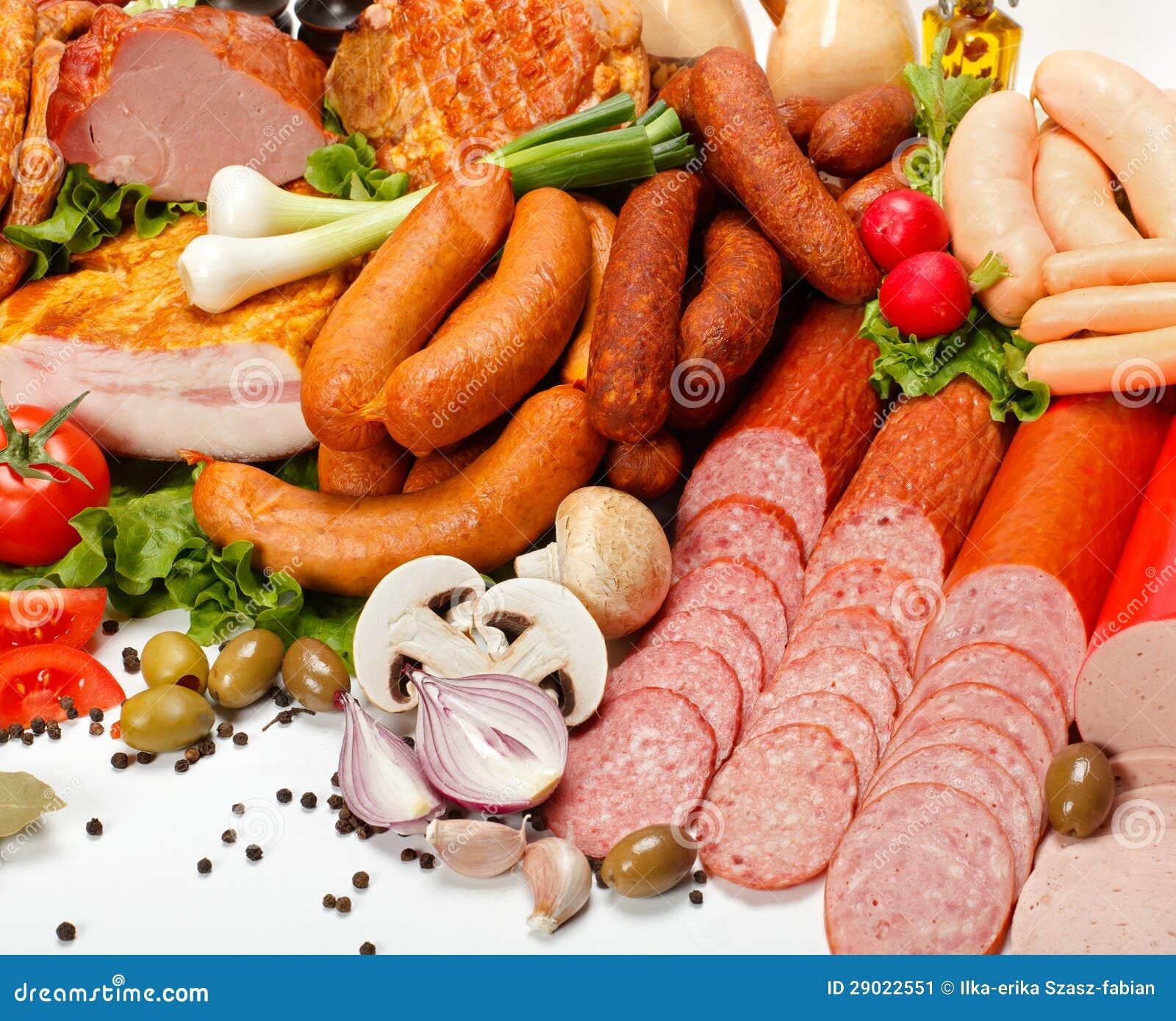 De producten van de slager